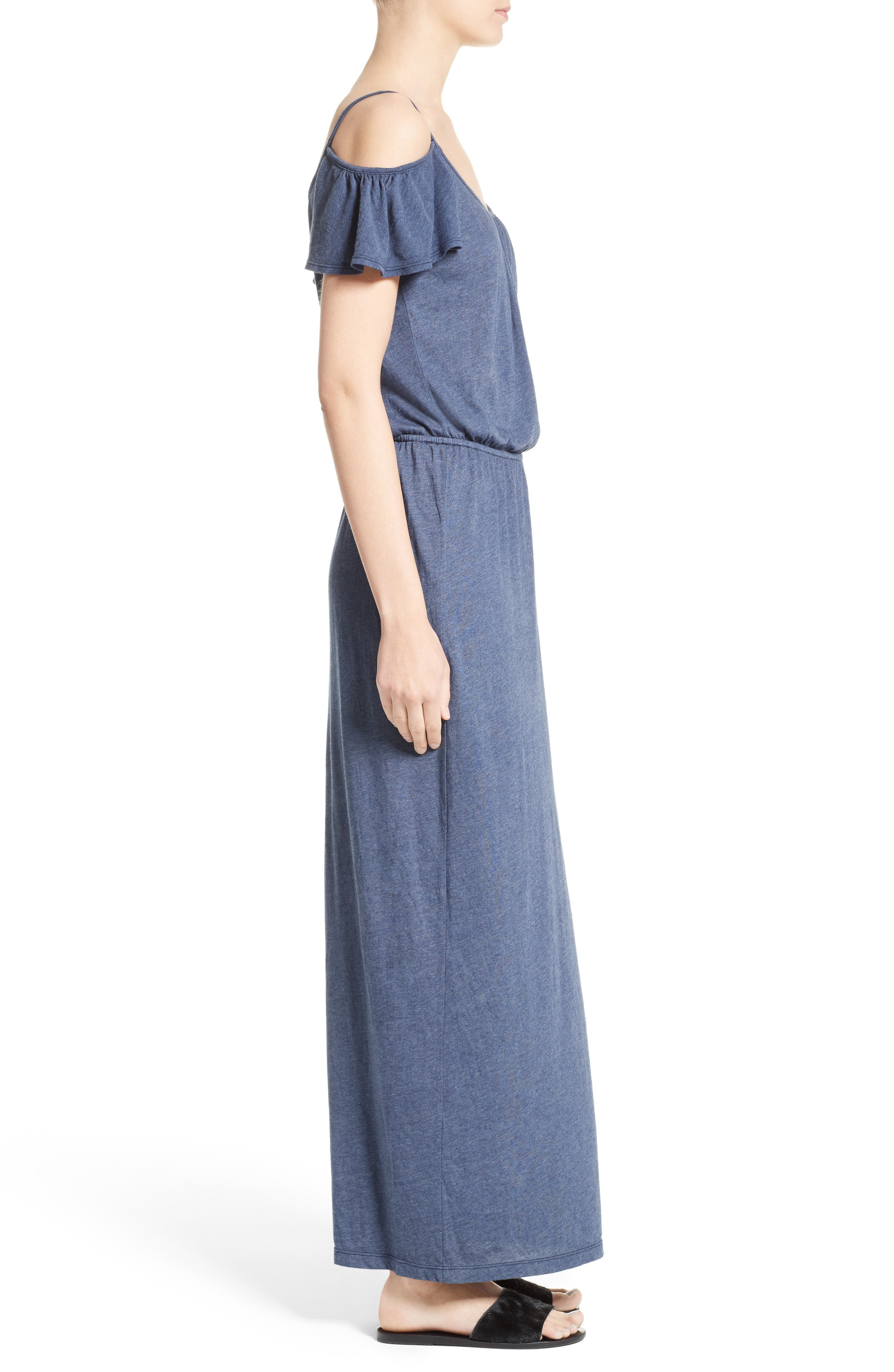 Jassina Jersey Maxi Dress,                             Alternate thumbnail 3, color,                             Dark Navy
