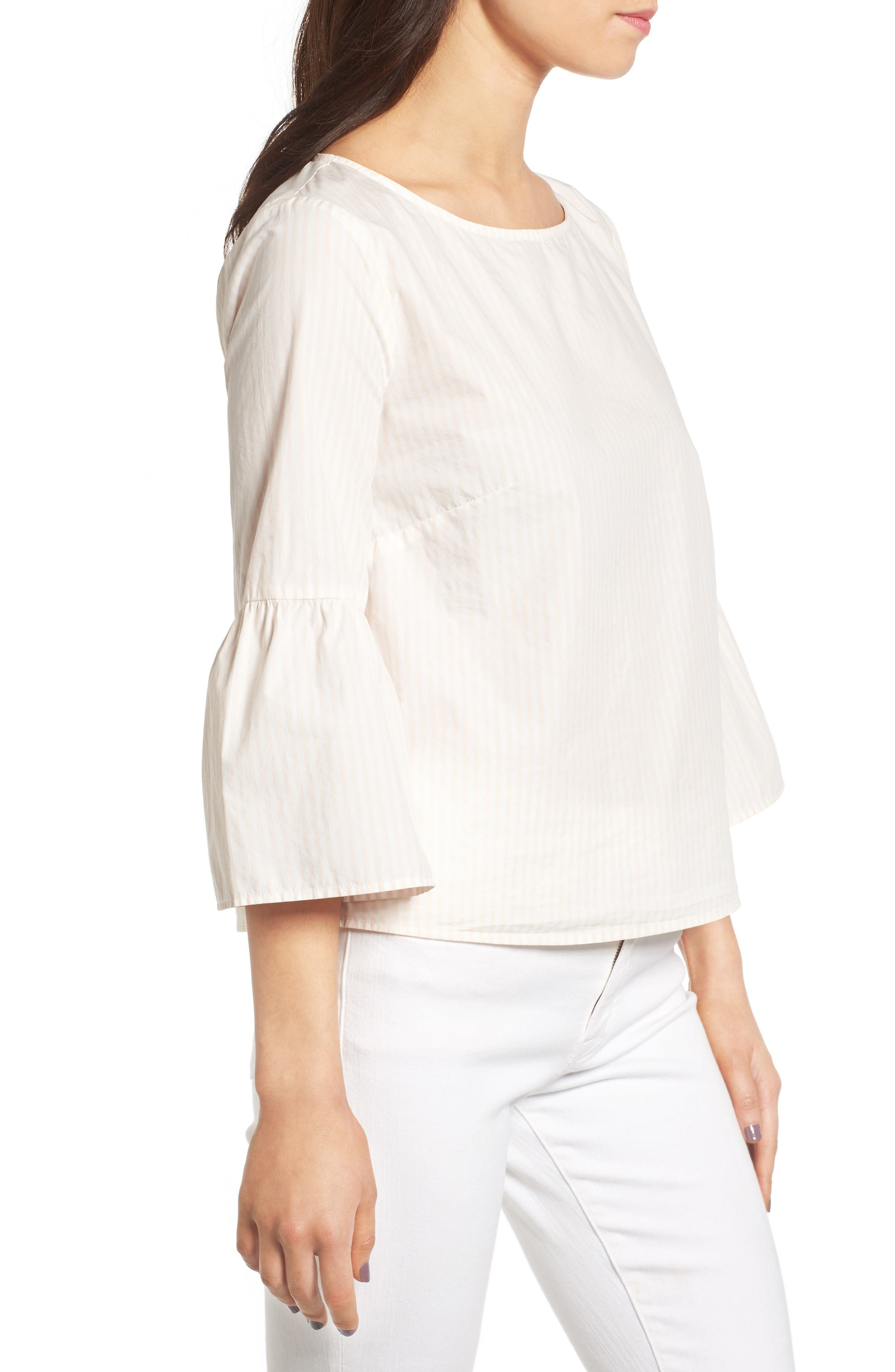 Alternate Image 3  - Madewell Bell Sleeve Cotton Top