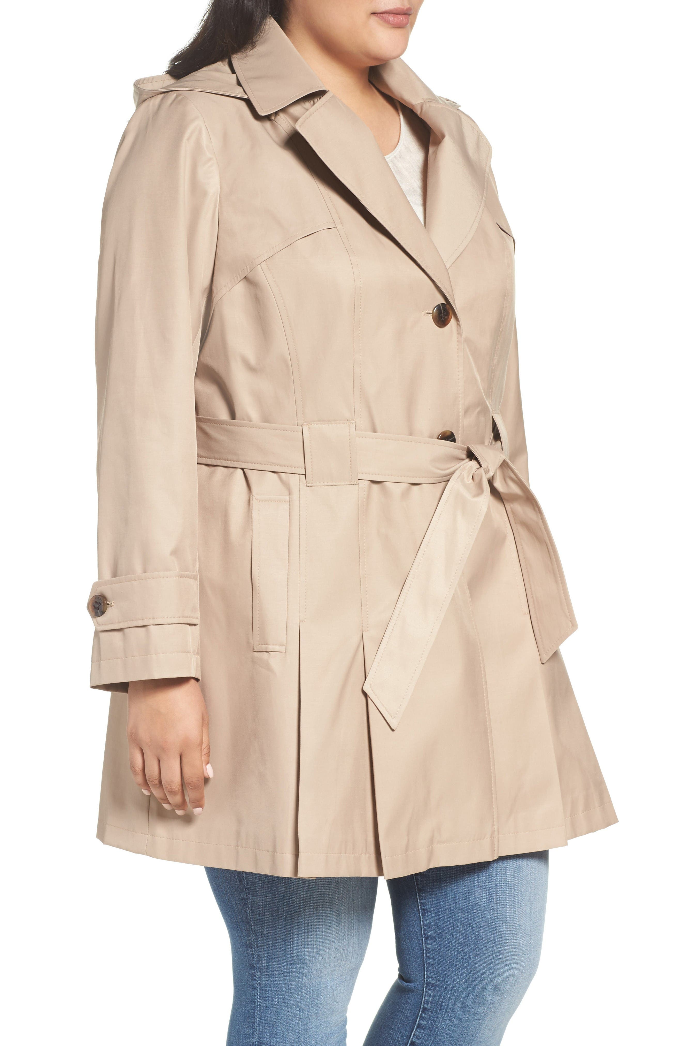 'Scarpa' Single Breasted Trench Coat,                             Alternate thumbnail 3, color,                             New Sand