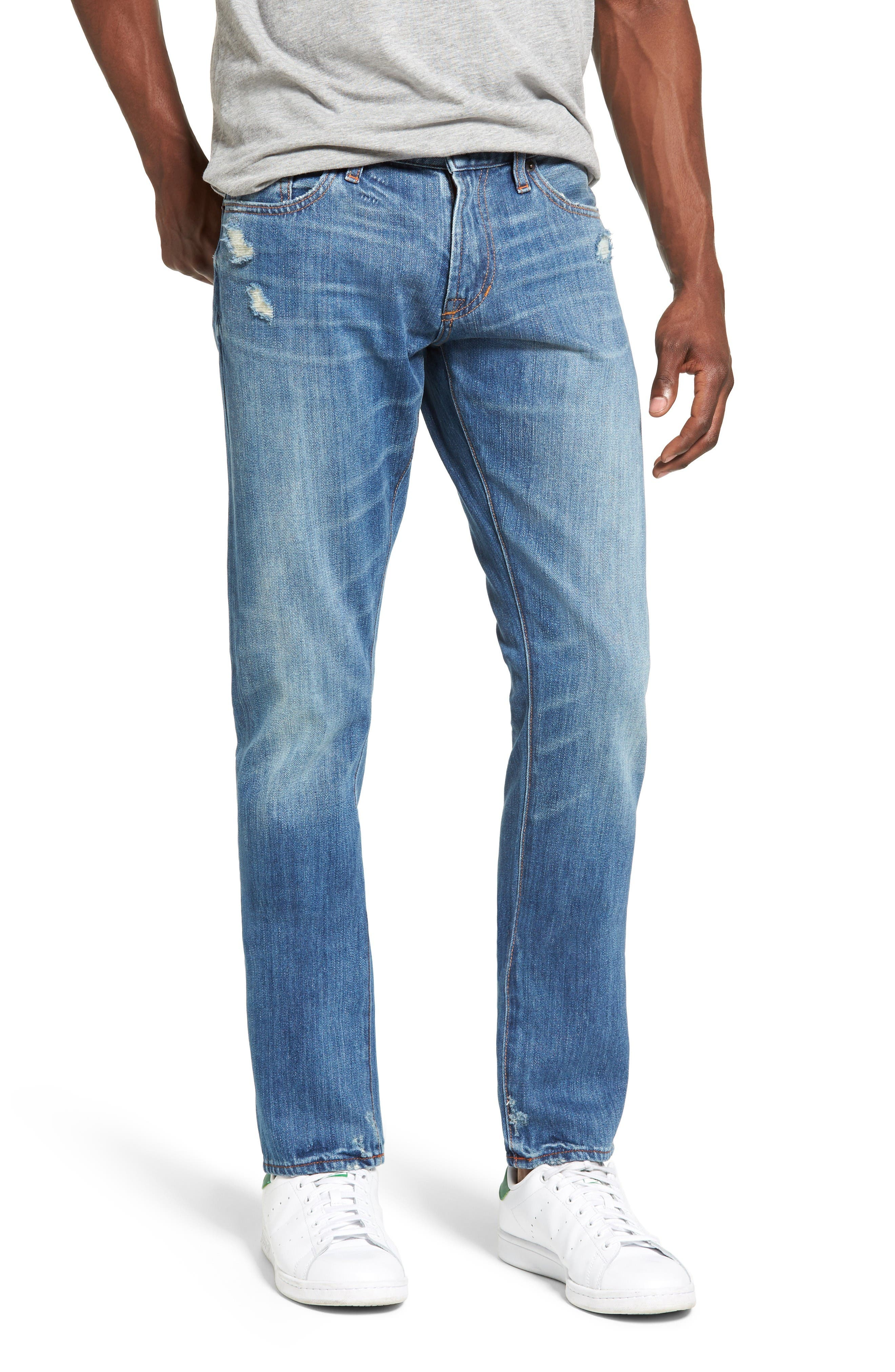 Jean Shop Jim Slim Fit Selvedge Jeans (Park Slope) (Regular & Big)