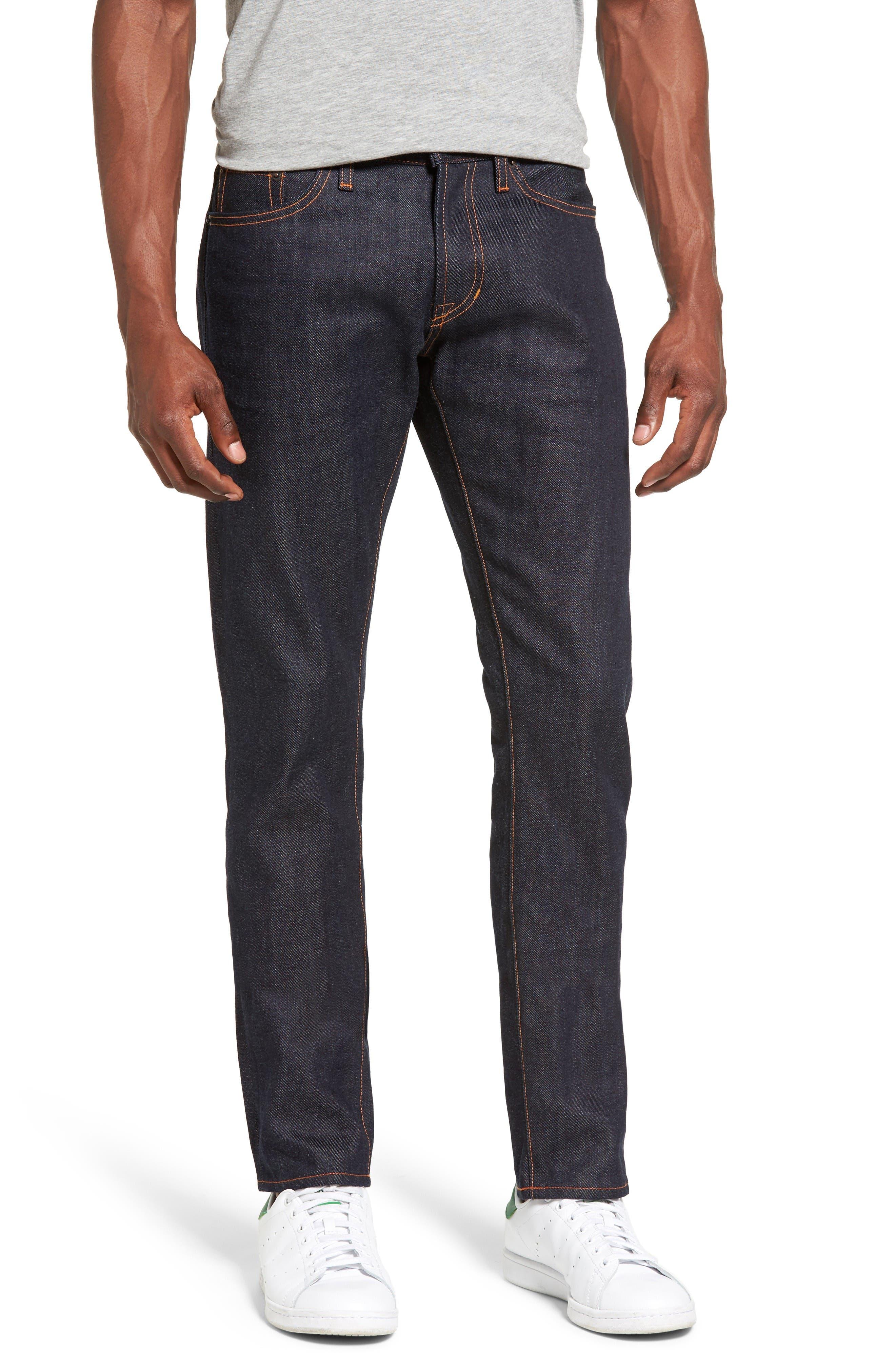 Jean Shop Jim Slim Fit Raw Selvedge Jeans (Raw) (Regular & Big)