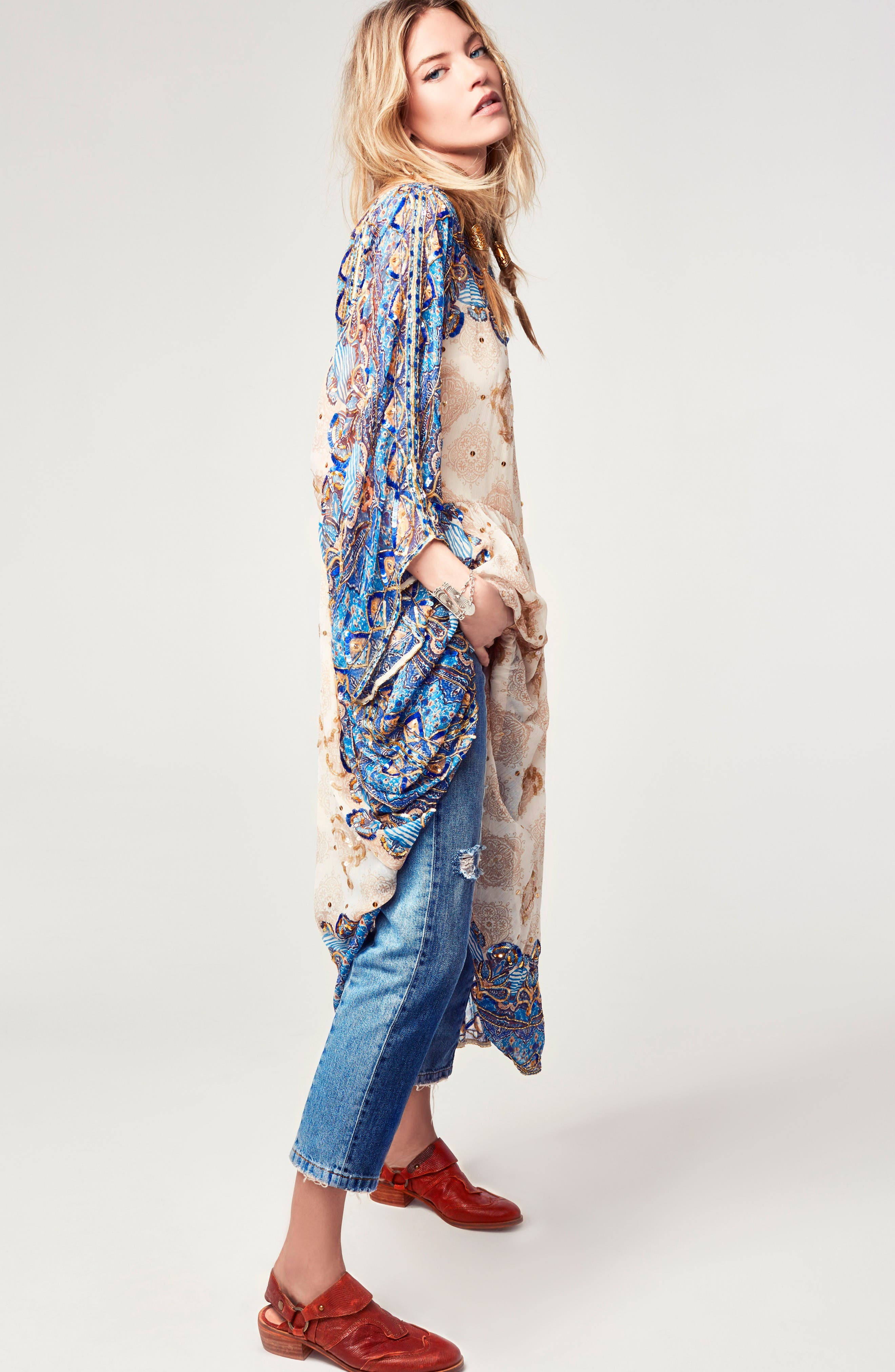 Alternate Image 2  - Free People The Patchwork High Waist Crop Jeans
