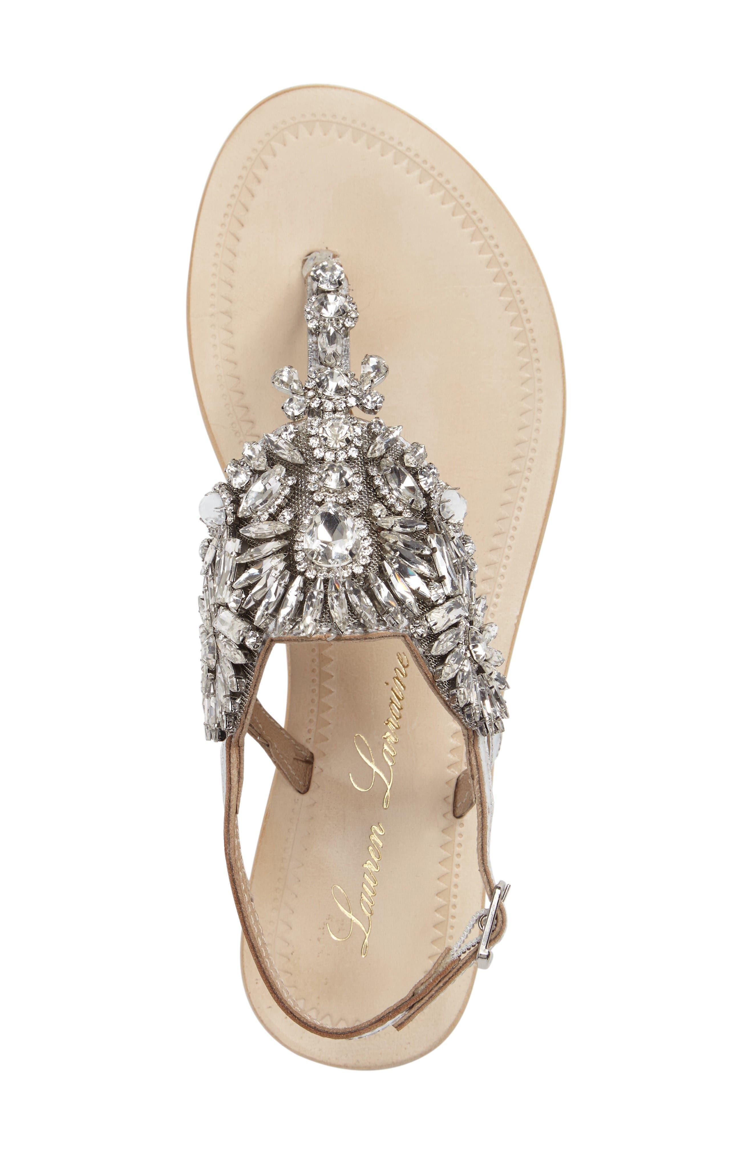 Alternate Image 3  - Lauren Lorraine Vera Embellished Sandal (Women)