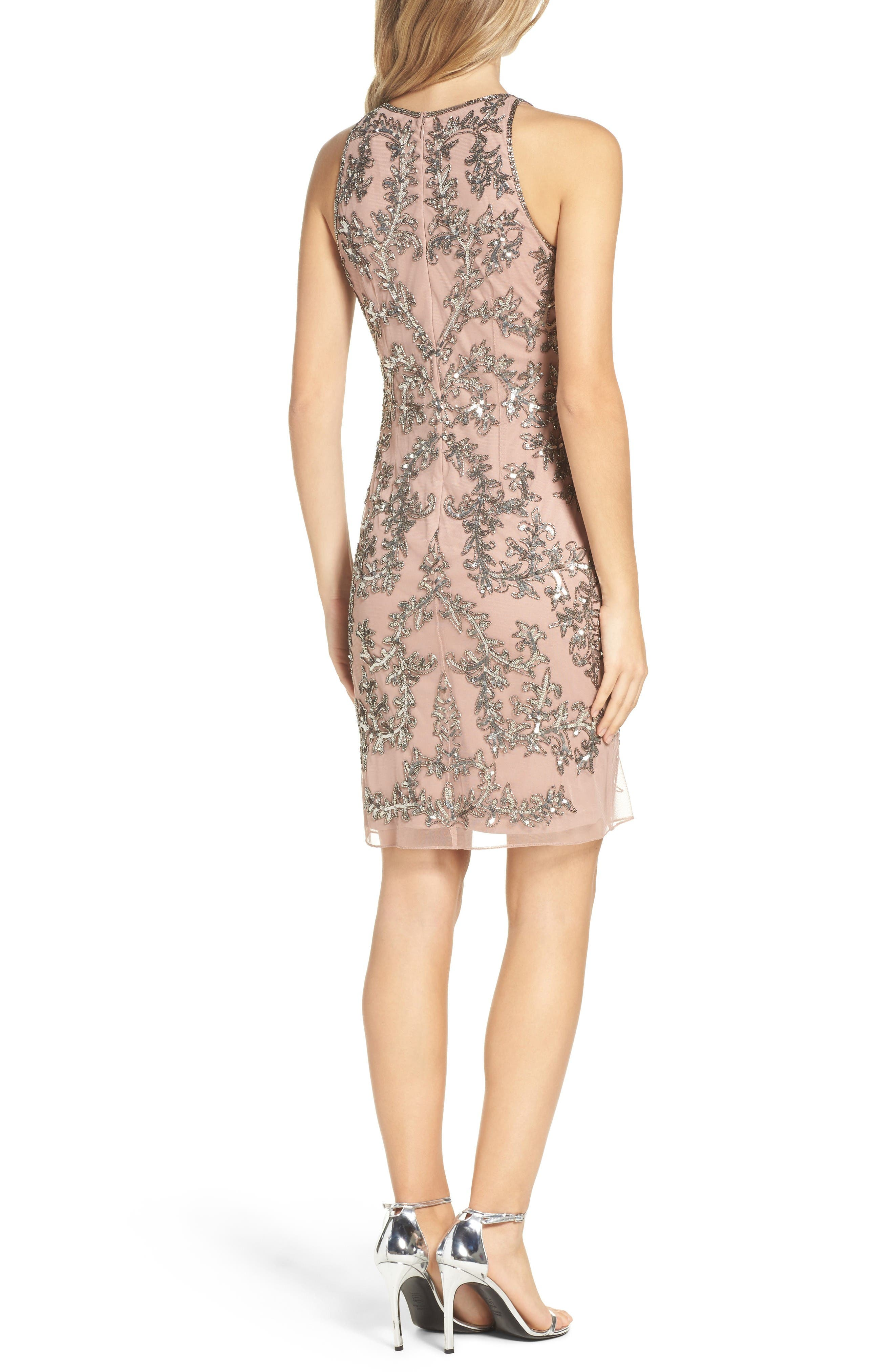 Alternate Image 2  - Adrianna Papell Embellished Chiffon Sheath Dress