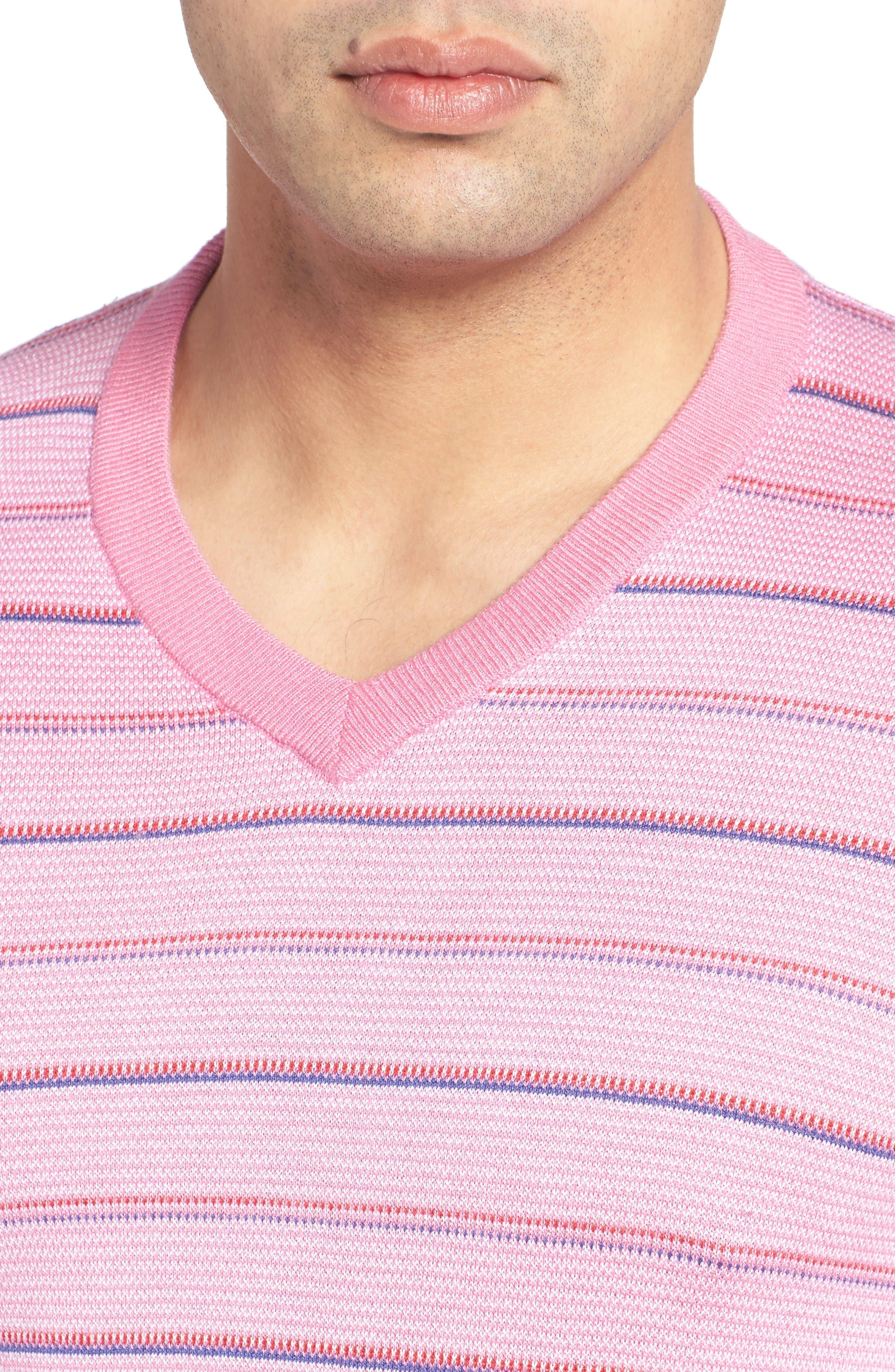 Alternate Image 4  - Bugatchi Stripe Silk Blend Sweater