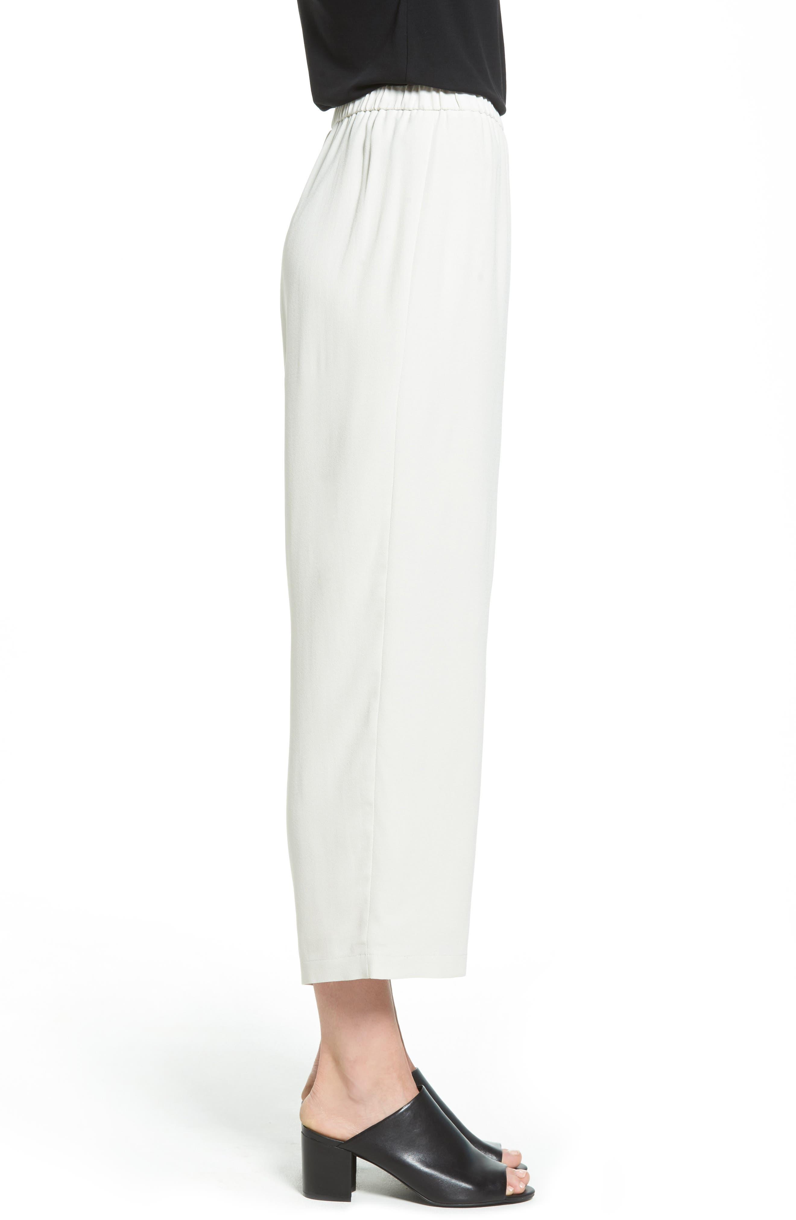 Alternate Image 3  - Eileen Fisher Silk Crop Pants (Regular & Petite)