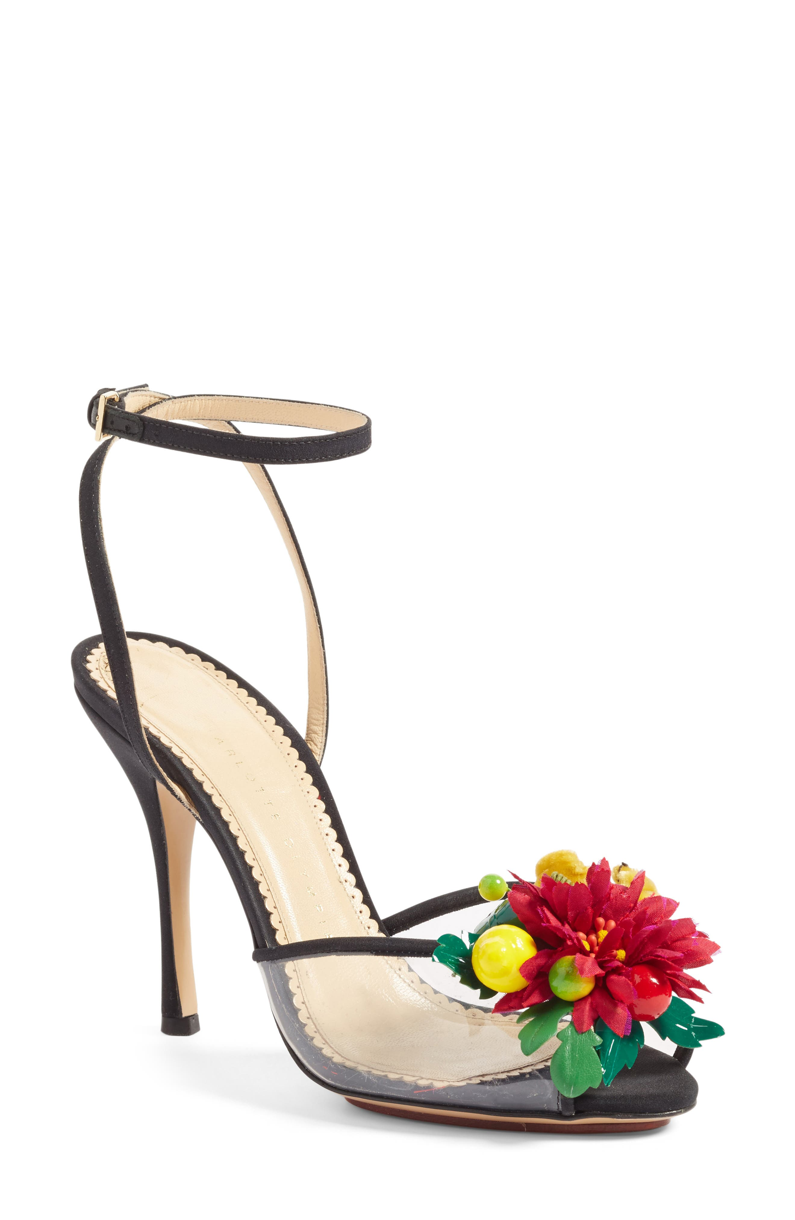 Alternate Image 1 Selected - Charlotte Olympia Tropicana Ankle Strap Sandal (Women)