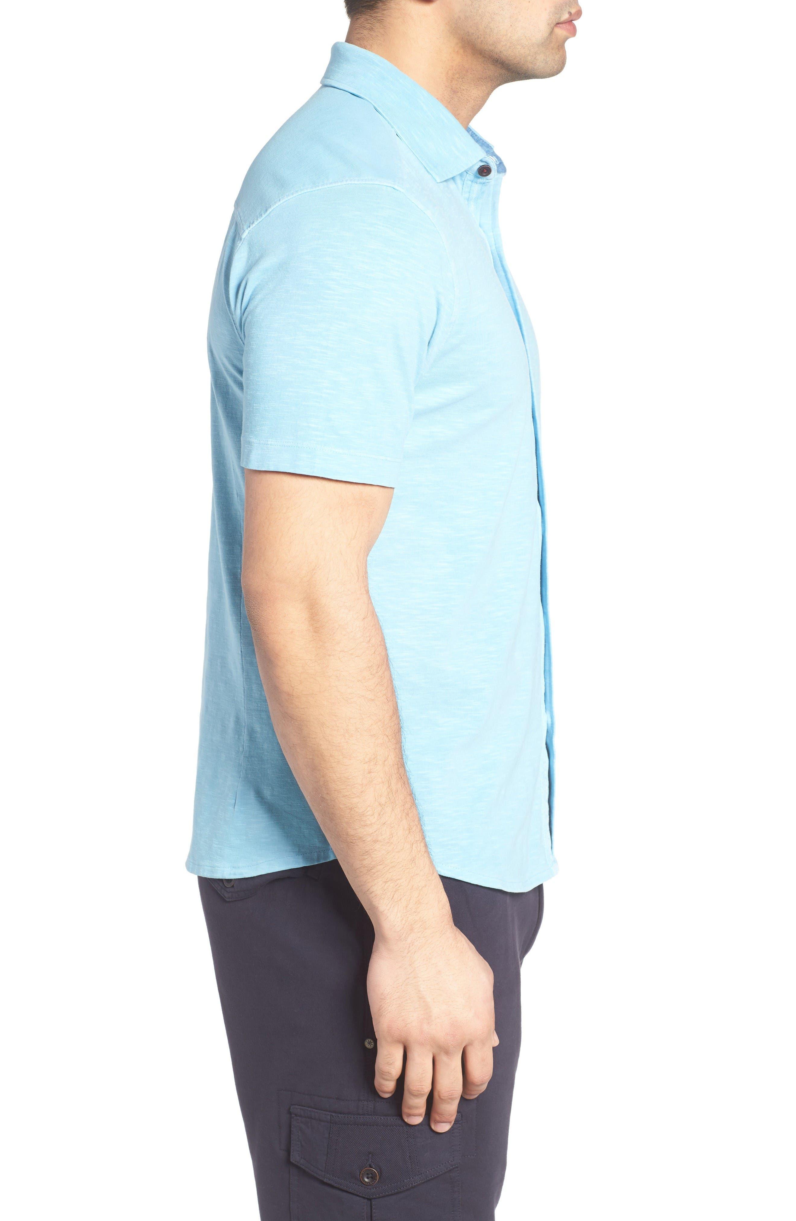 Alternate Image 3  - Thaddeus McAdams Slub Jersey Sport Shirt