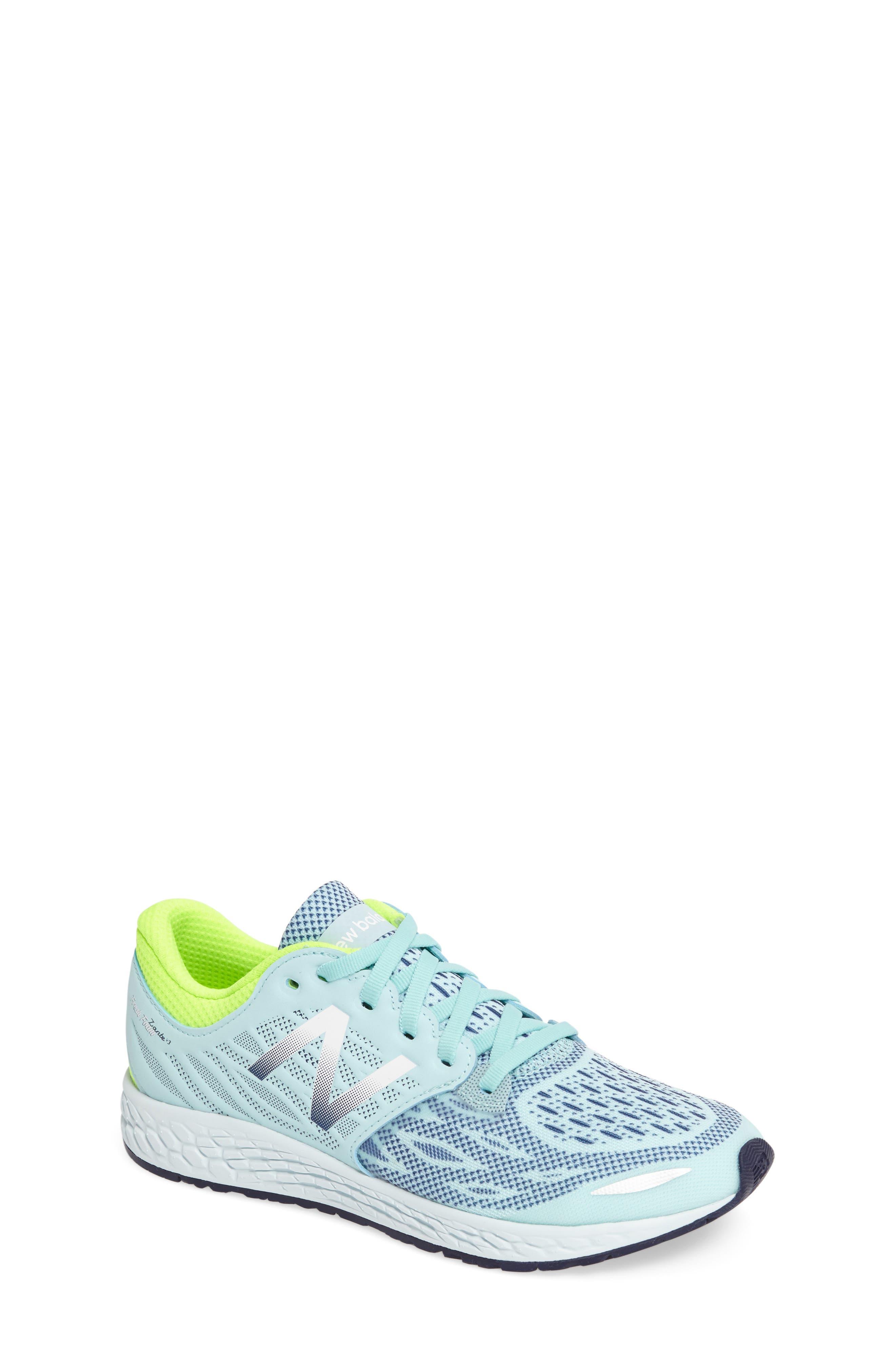 Fresh Foam Sneaker,                             Main thumbnail 1, color,                             Teal/Green