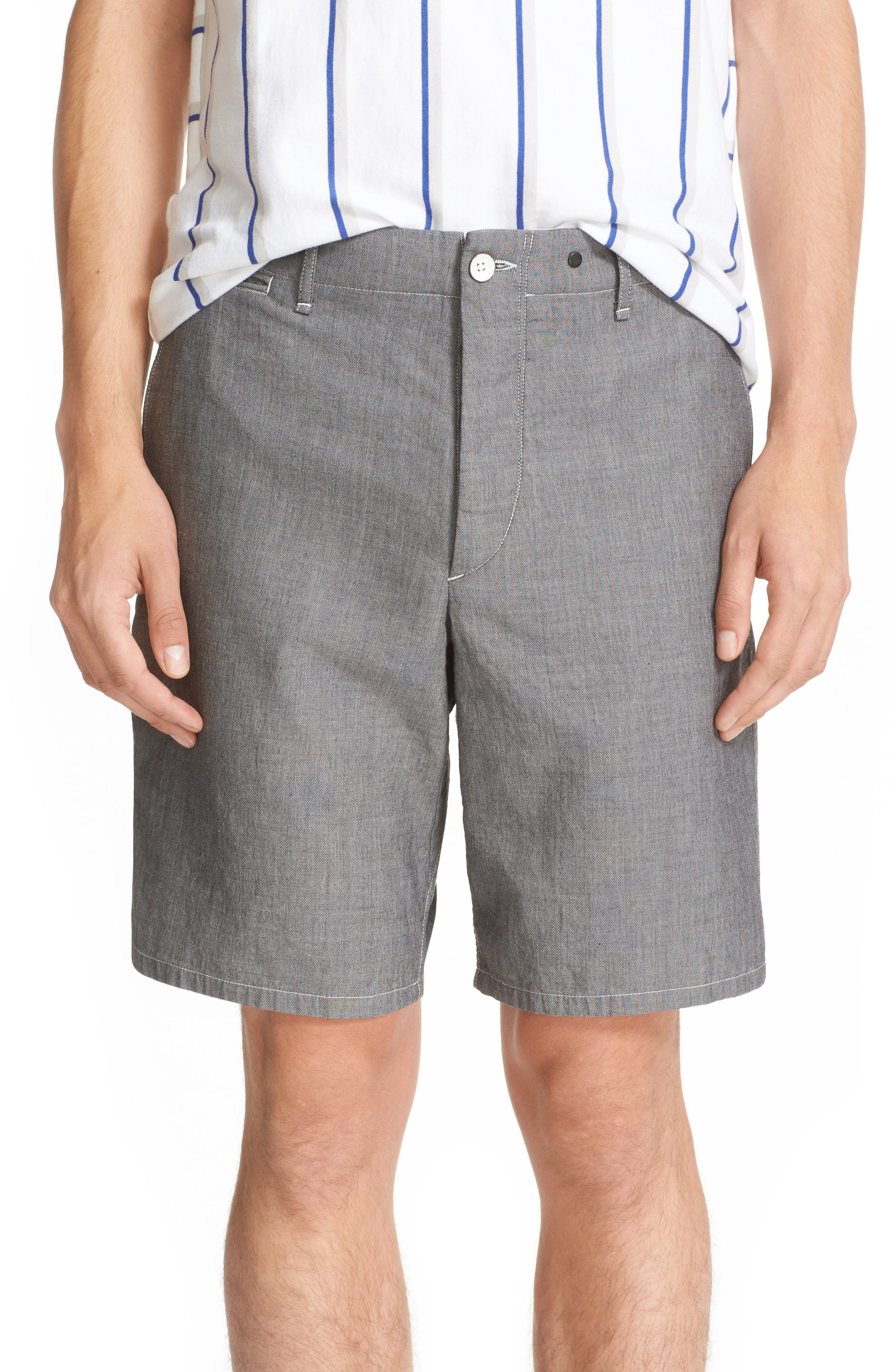 Beach II Shorts,                         Main,                         color, Black/ White