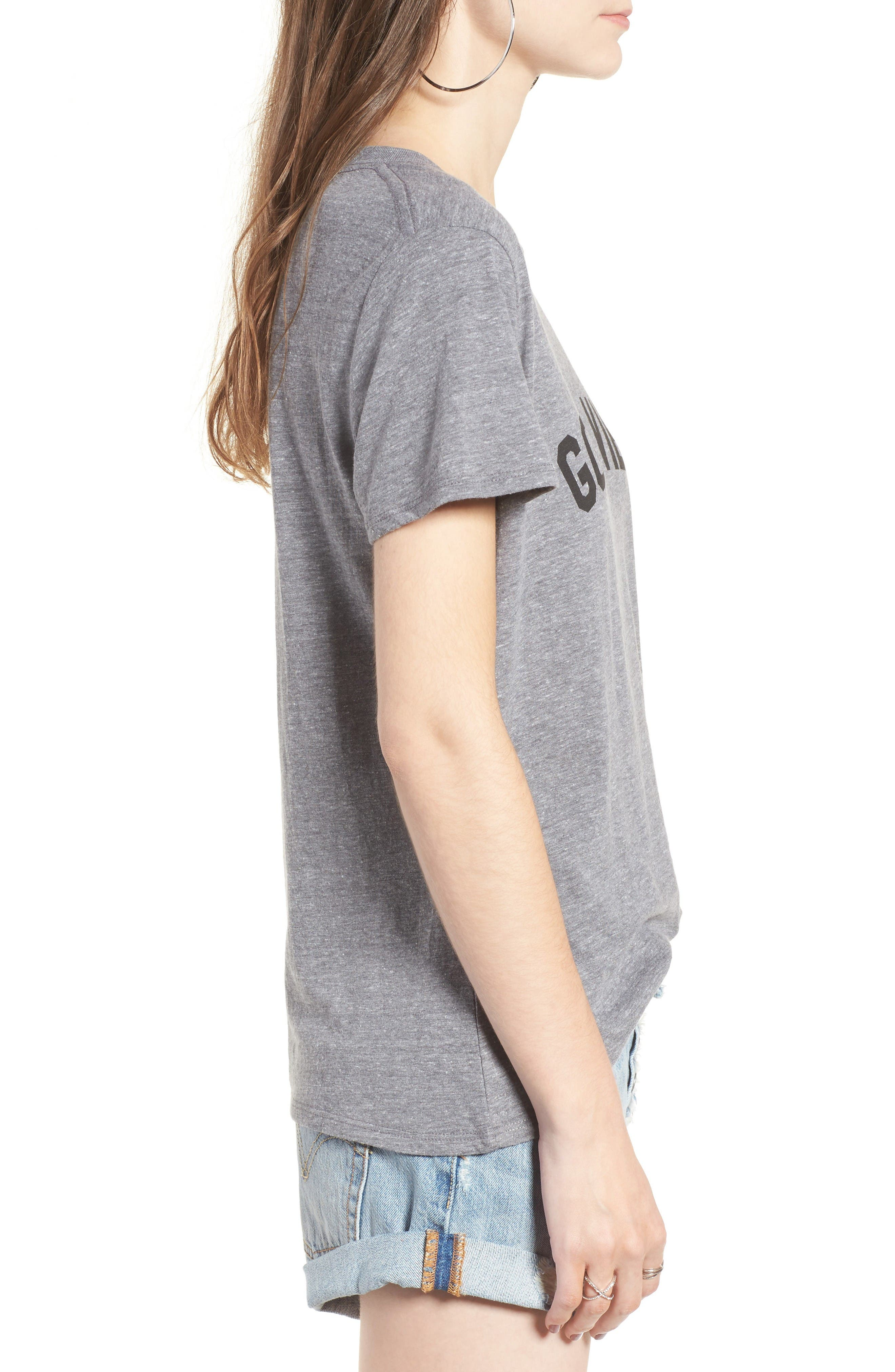 'Good Vibes' Graphic Tee,                             Alternate thumbnail 3, color,                             Heather Grey