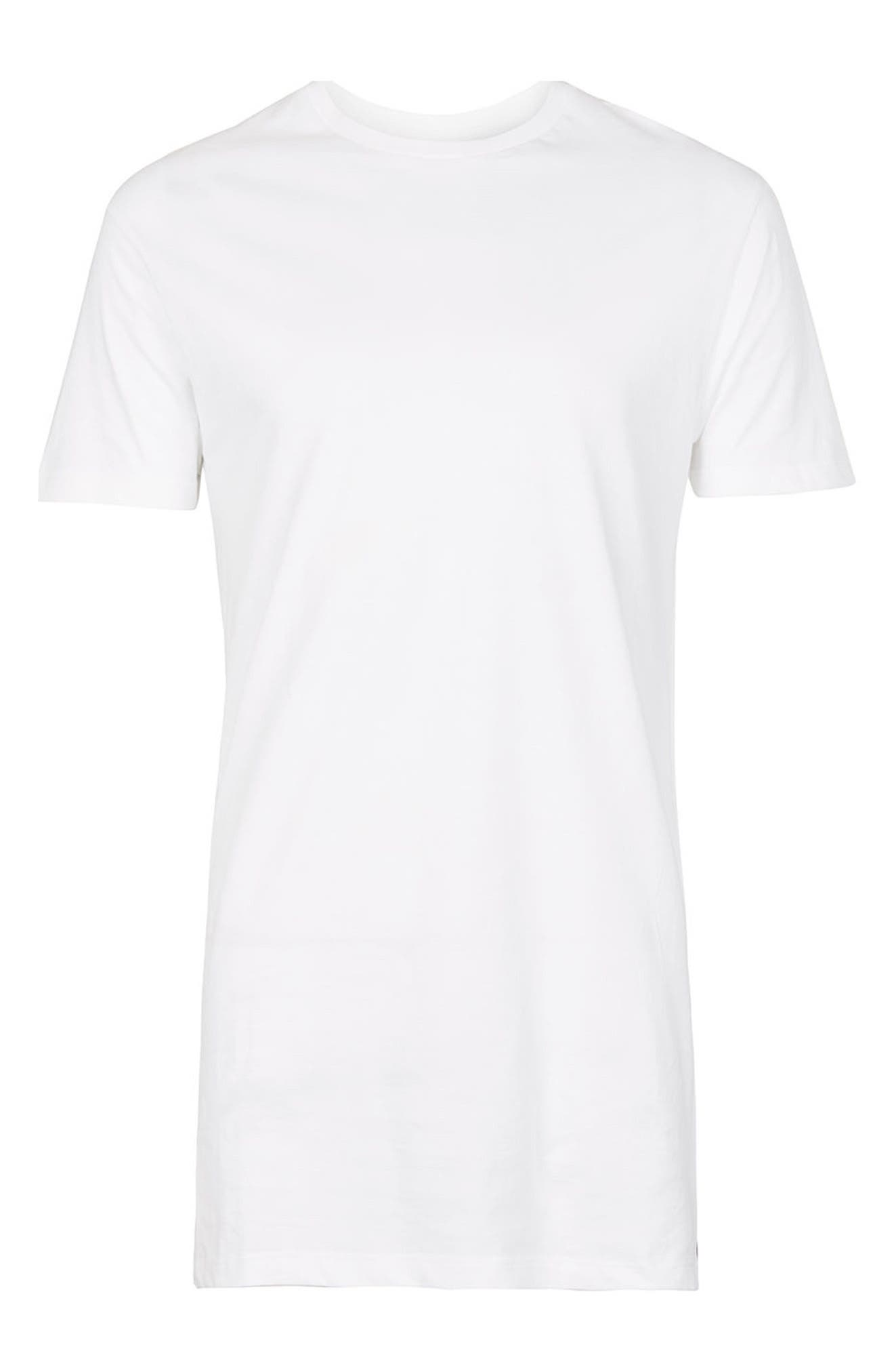 Alternate Image 5  - Topman Muscle Fit Longline T-Shirt
