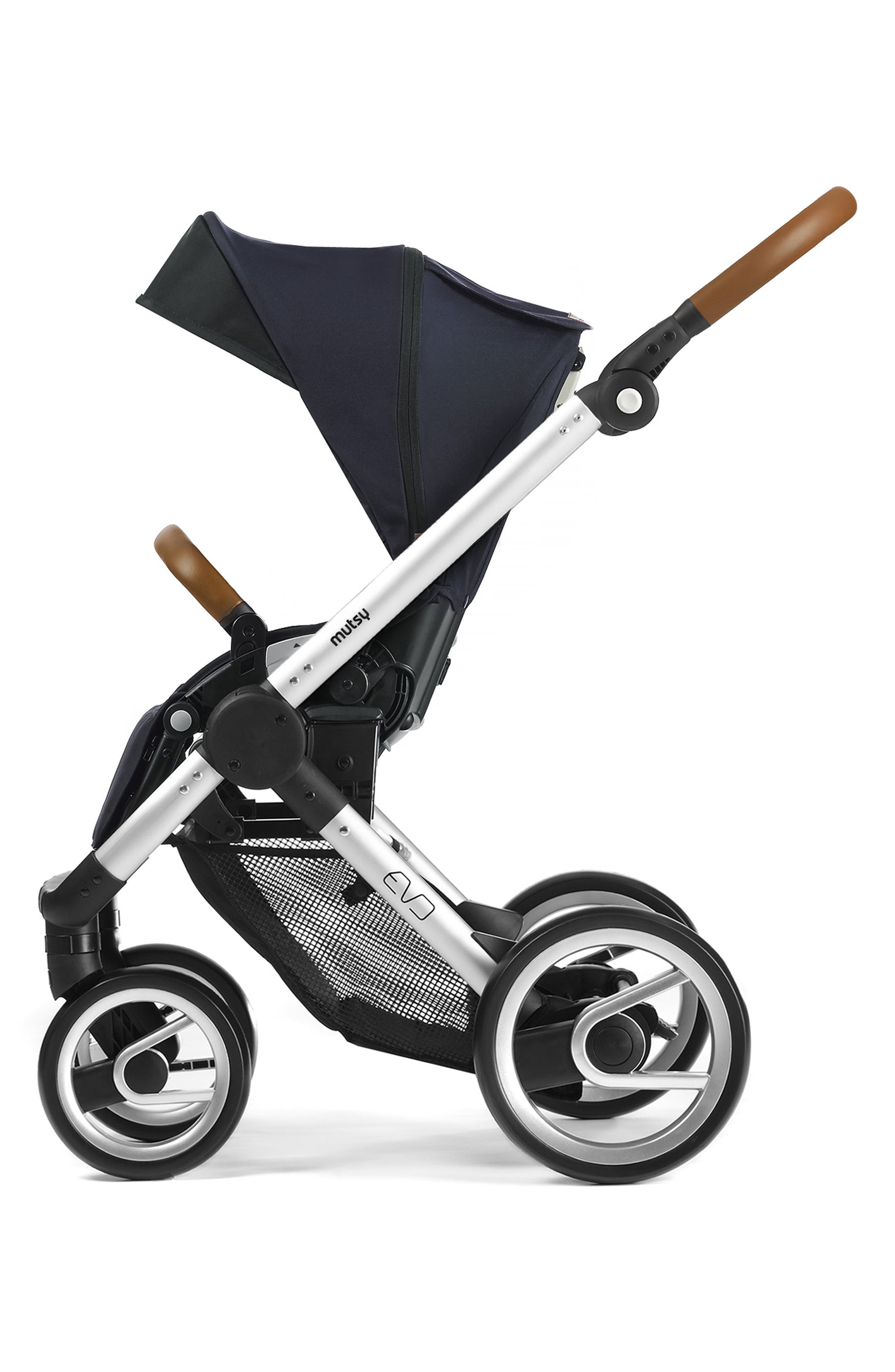 Evo - Urban Nomad Stroller,                             Alternate thumbnail 4, color,                             Silver/ Blue