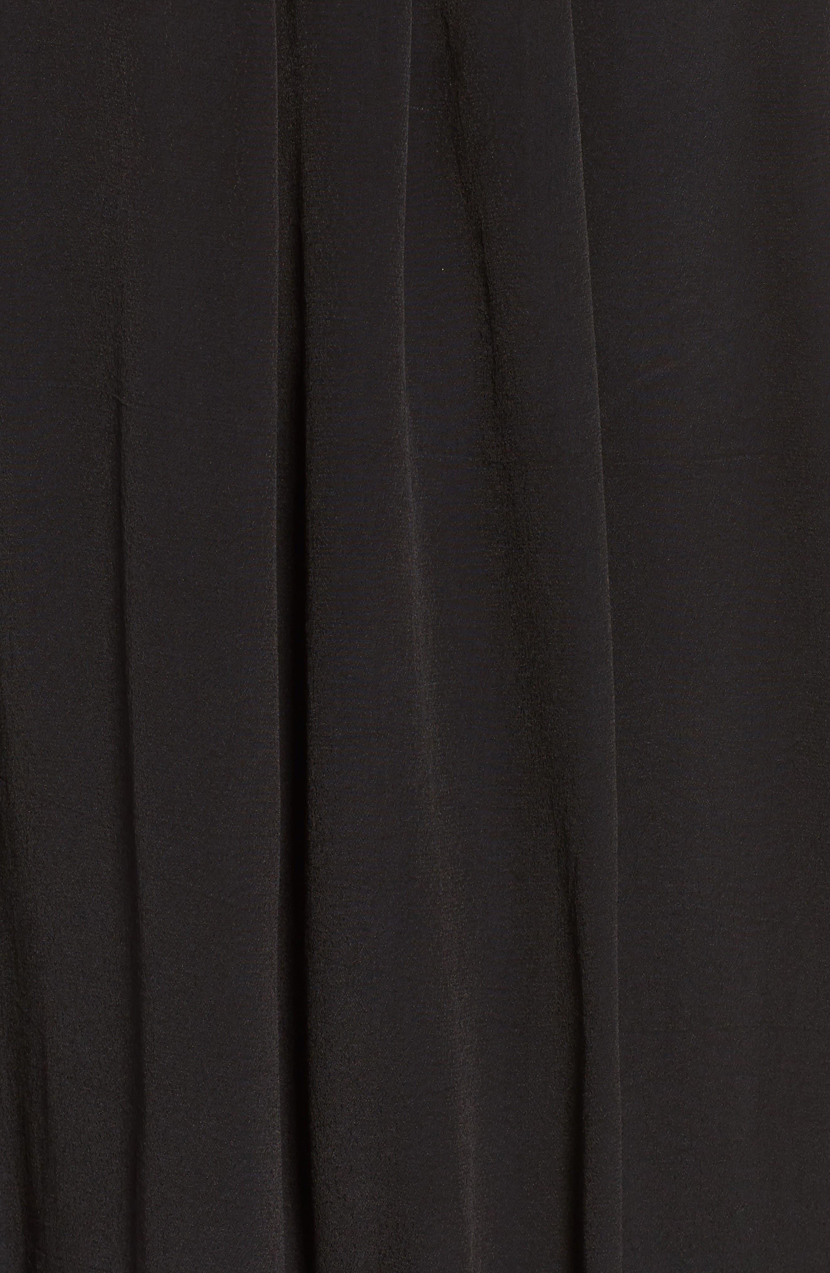Pintuck Pleat Lantern Sleeve Babydoll Dress,                             Alternate thumbnail 5, color,                             Vintage Black