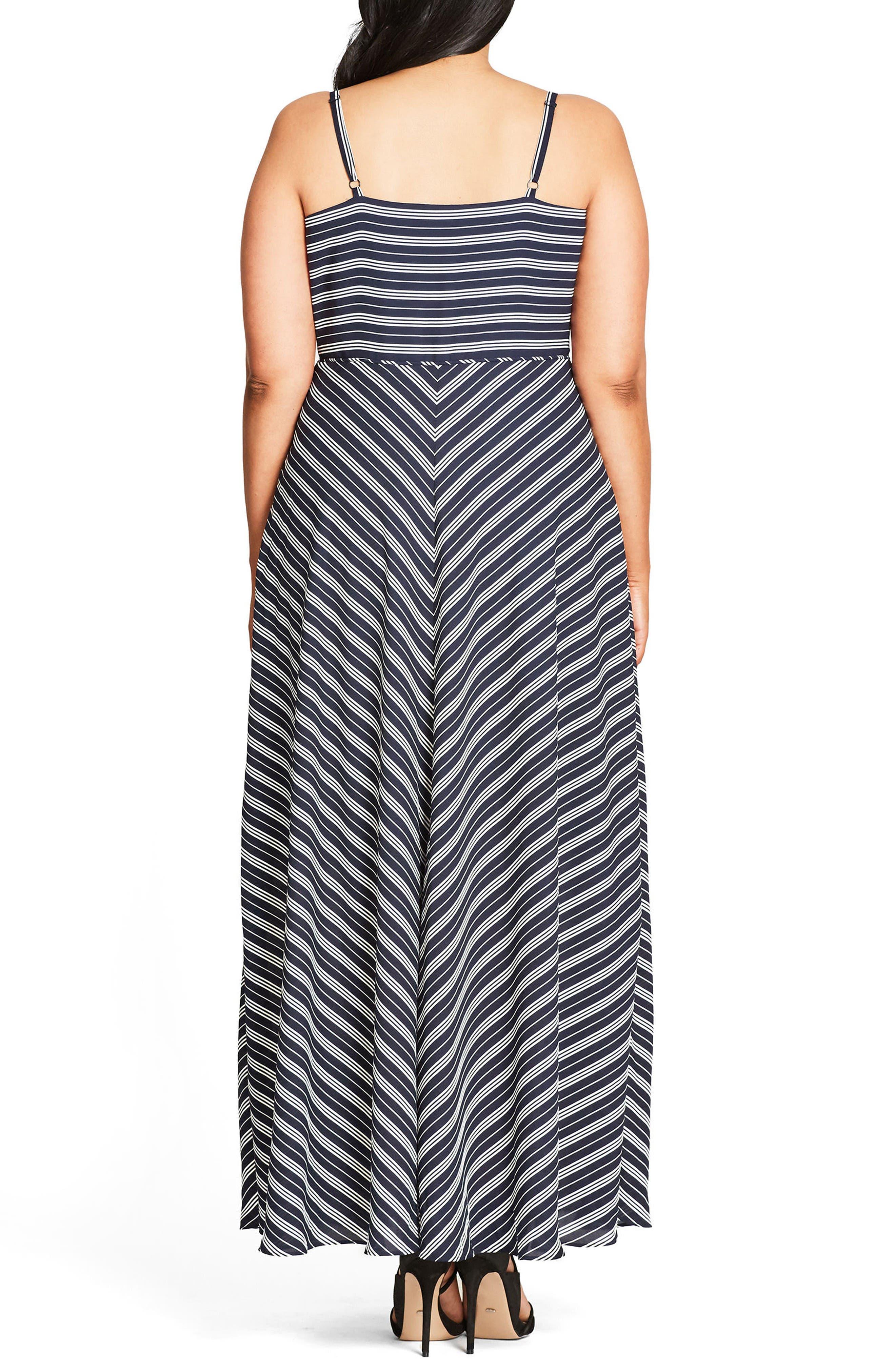 Alternate Image 2  - City Chic Sailor Maxi Dress (Plus Size)