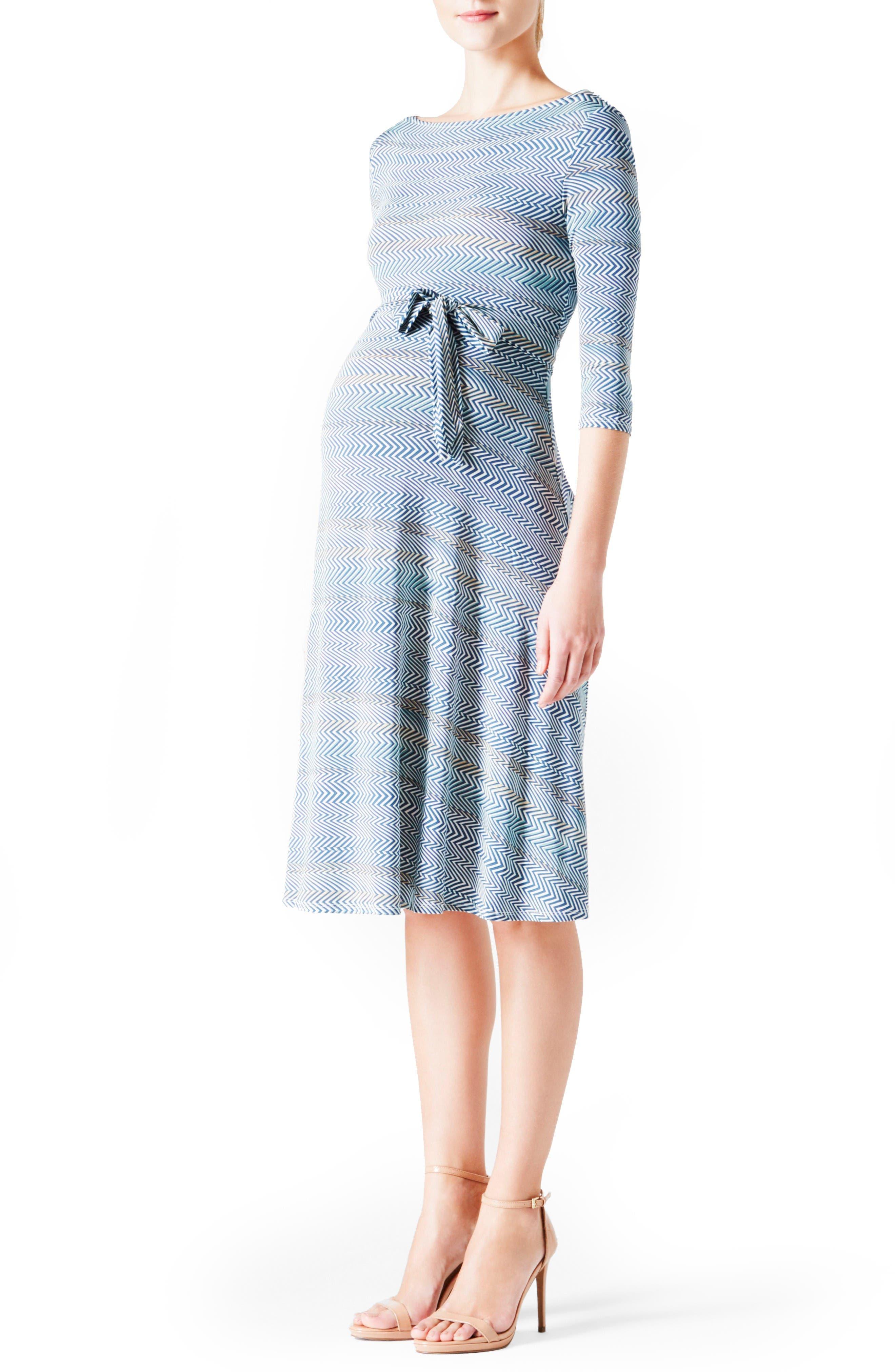Leota 'Ilana' Belted Maternity Dress