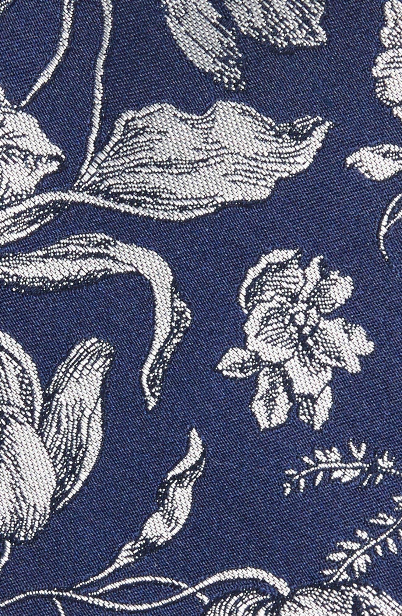 Alternate Image 2  - The Tie Bar Floral Swell Silk Skinny Tie