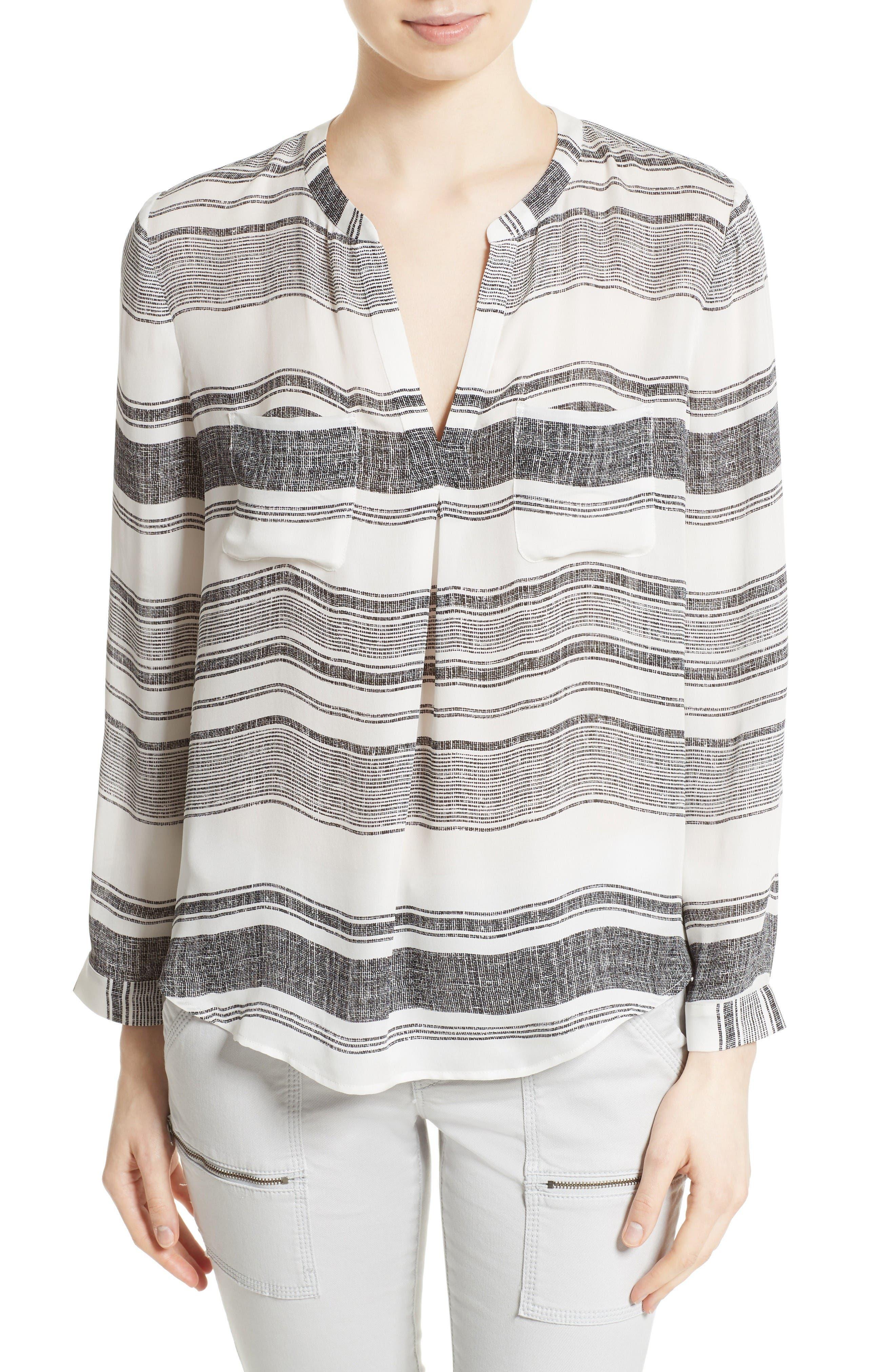 JOIE Obeline Stripe Silk Blouse