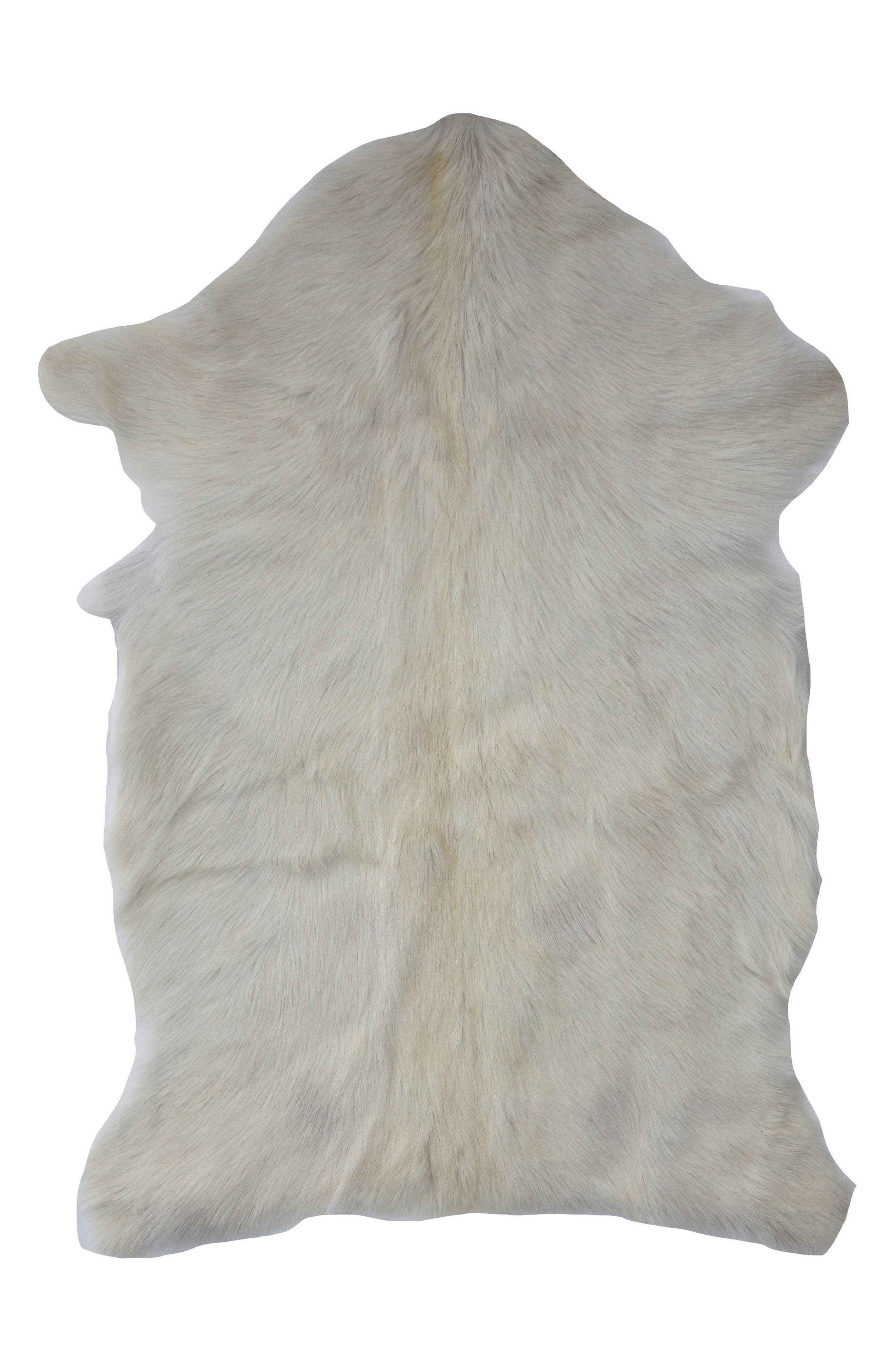 Genuine Goat Hair Rug,                         Main,                         color, White