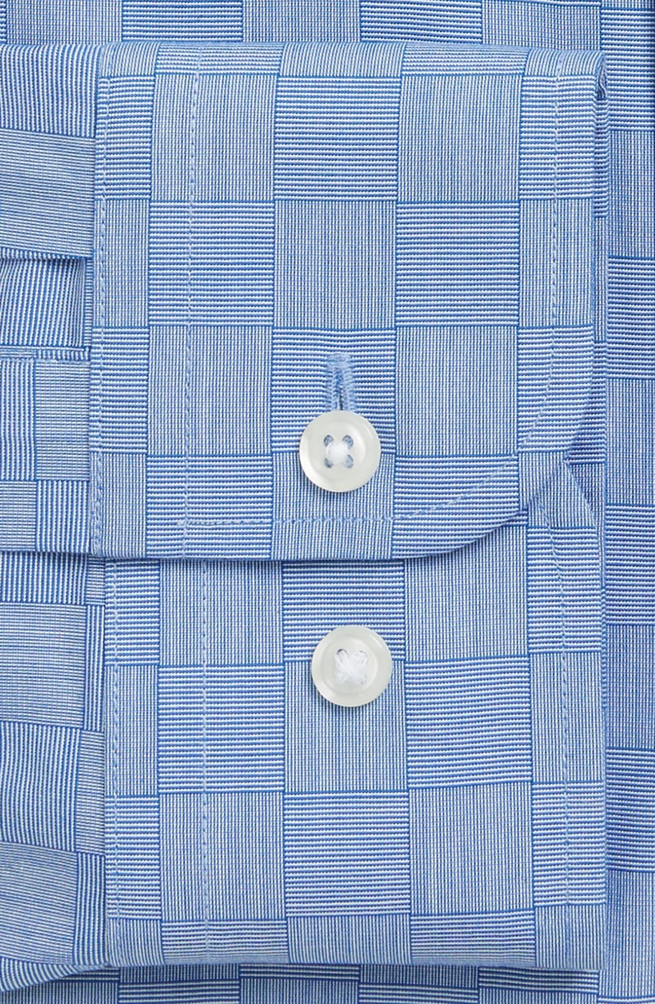 Smartcare<sup>™</sup> Trim Fit Check Dress Shirt,                             Alternate thumbnail 3, color,                             Blue Regatta
