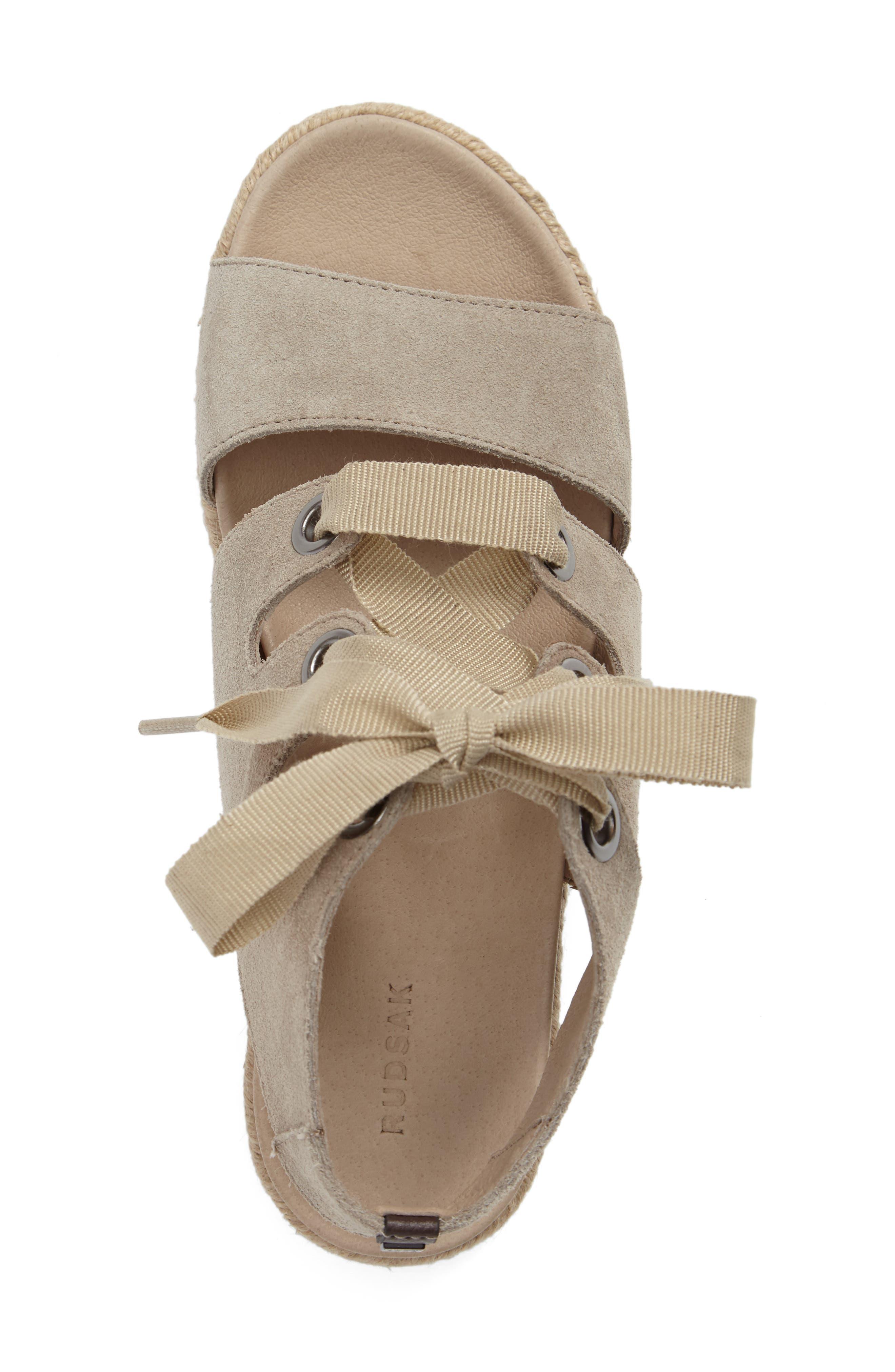 Alternate Image 4  - Rudsak Baptista Lace-Up Sandal (Women)