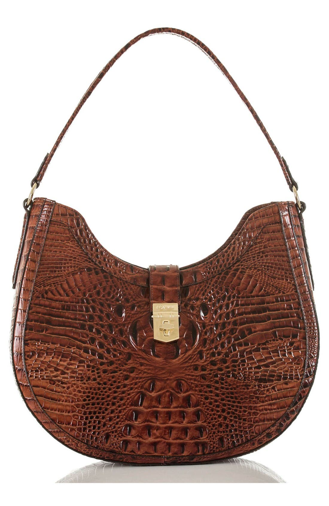 Alternate Image 1 Selected - Brahmin Bethany Croc Embossed Leather Hobo