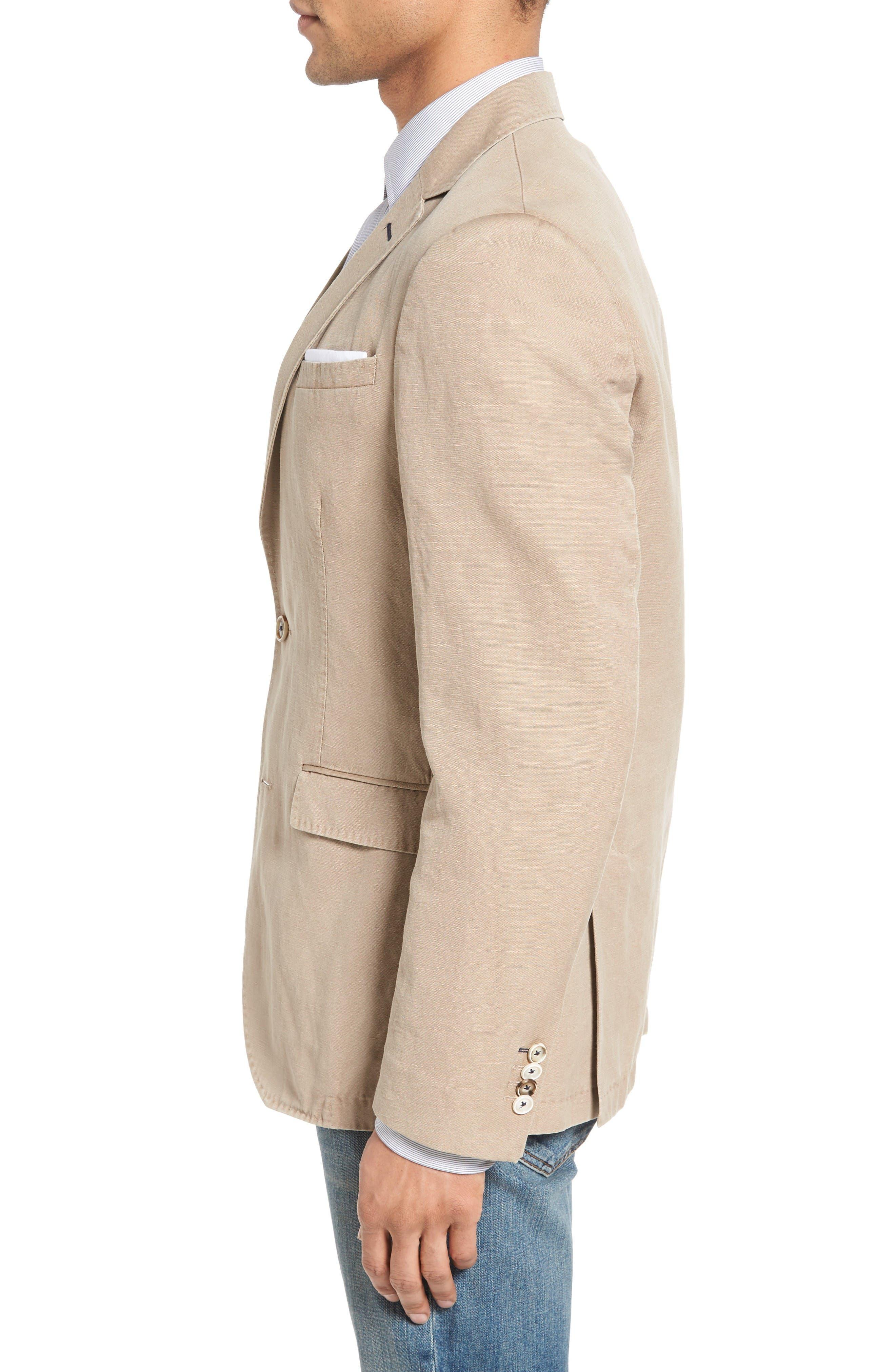 Alternate Image 3  - Sand Trim Fit Cotton & Linen Blazer