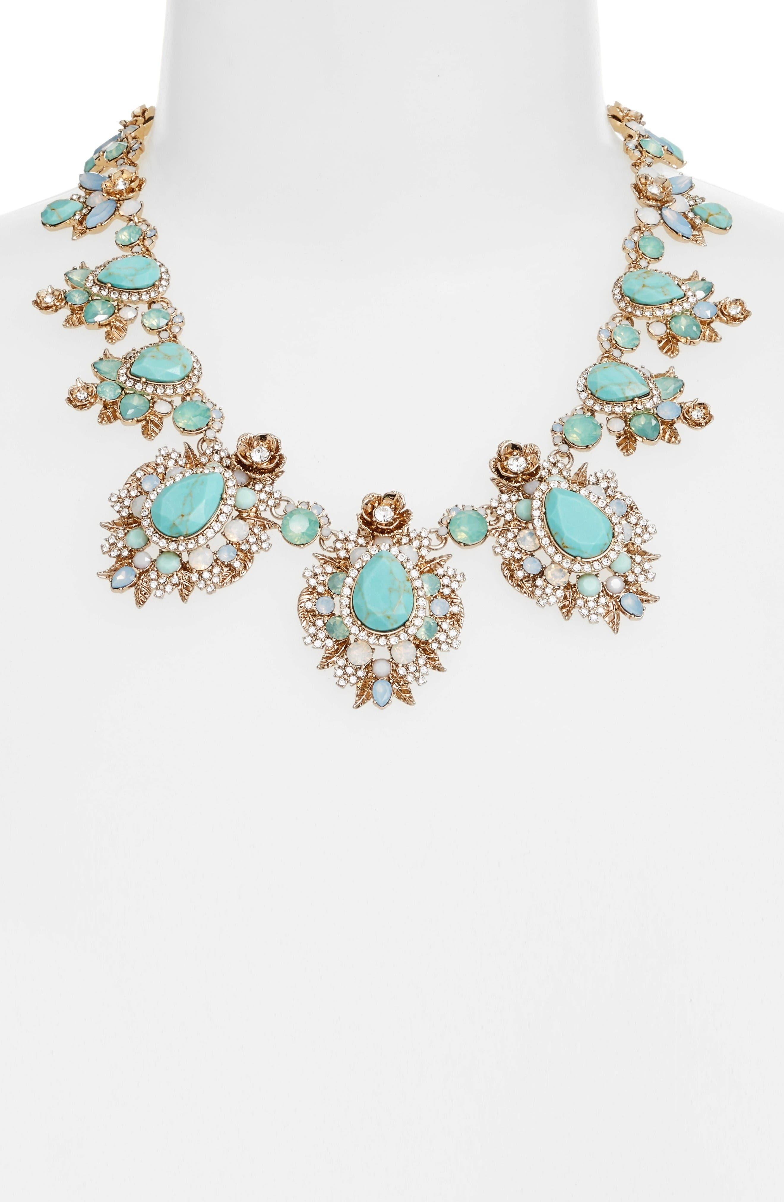 Alternate Image 2  - Marchesa Bright Paradise Drama Collar Necklace