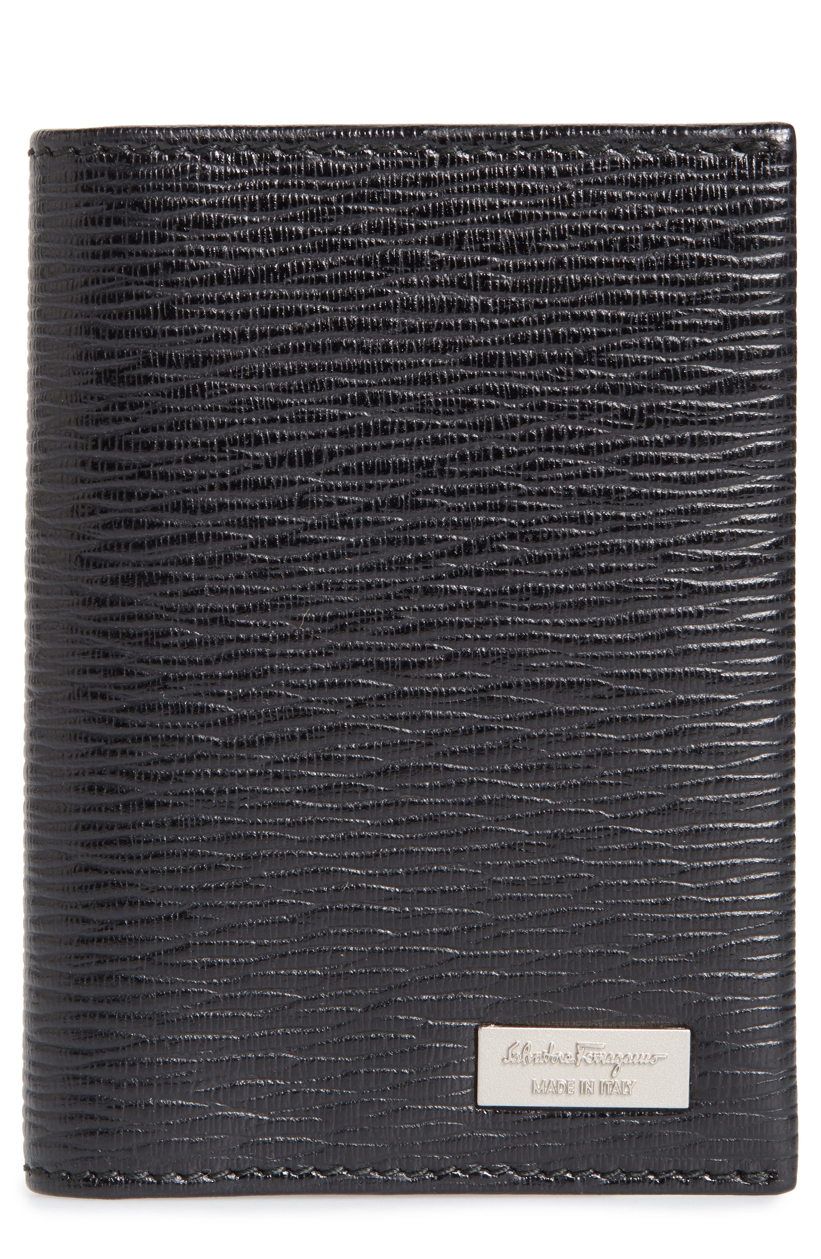 Main Image - Salvatore Ferragamo Revival Leather Folding Card Case