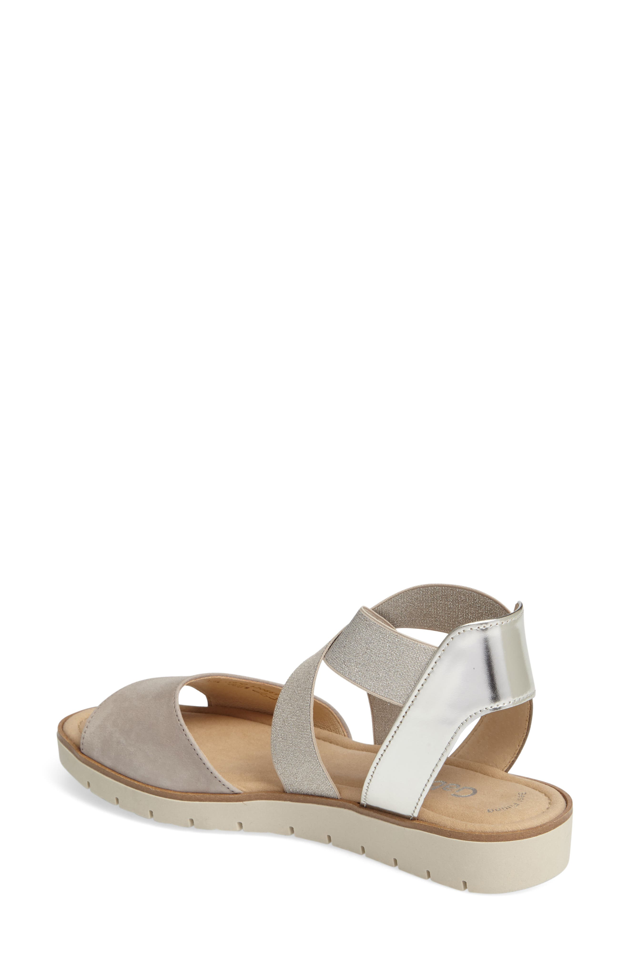 Strappy Sandal,                             Alternate thumbnail 2, color,                             Beige Leather