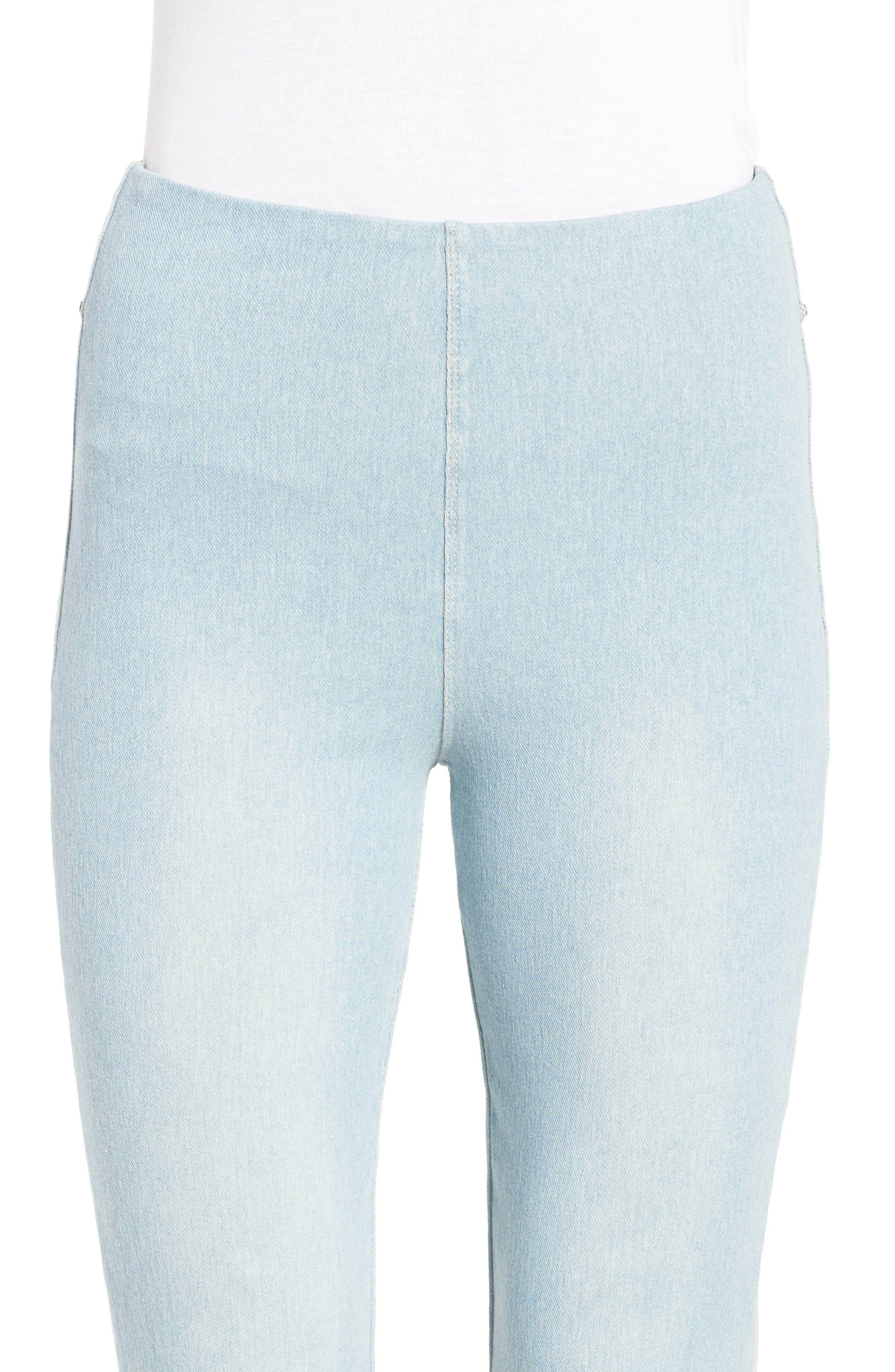 High Rise Flare Crop Leggings,                             Alternate thumbnail 4, color,                             Mineral Wash