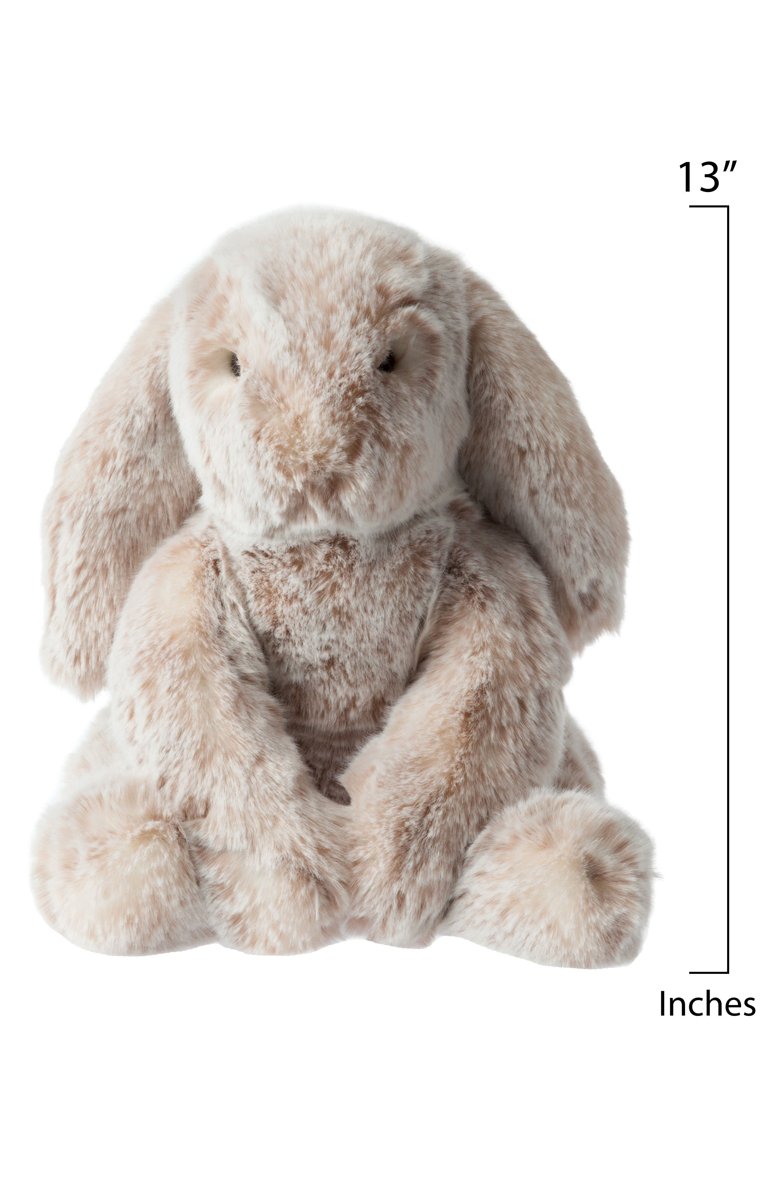 Luxe Bunny Stuffed Animal,                             Alternate thumbnail 4, color,                             Brown