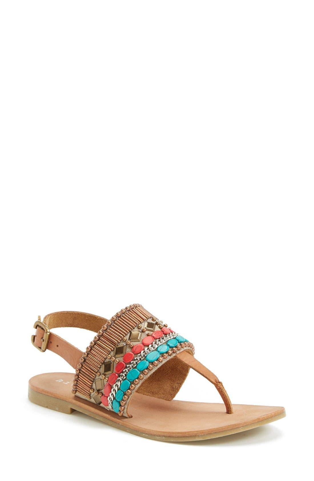 Main Image - Hinge Beaded Thong Sandal (Women)