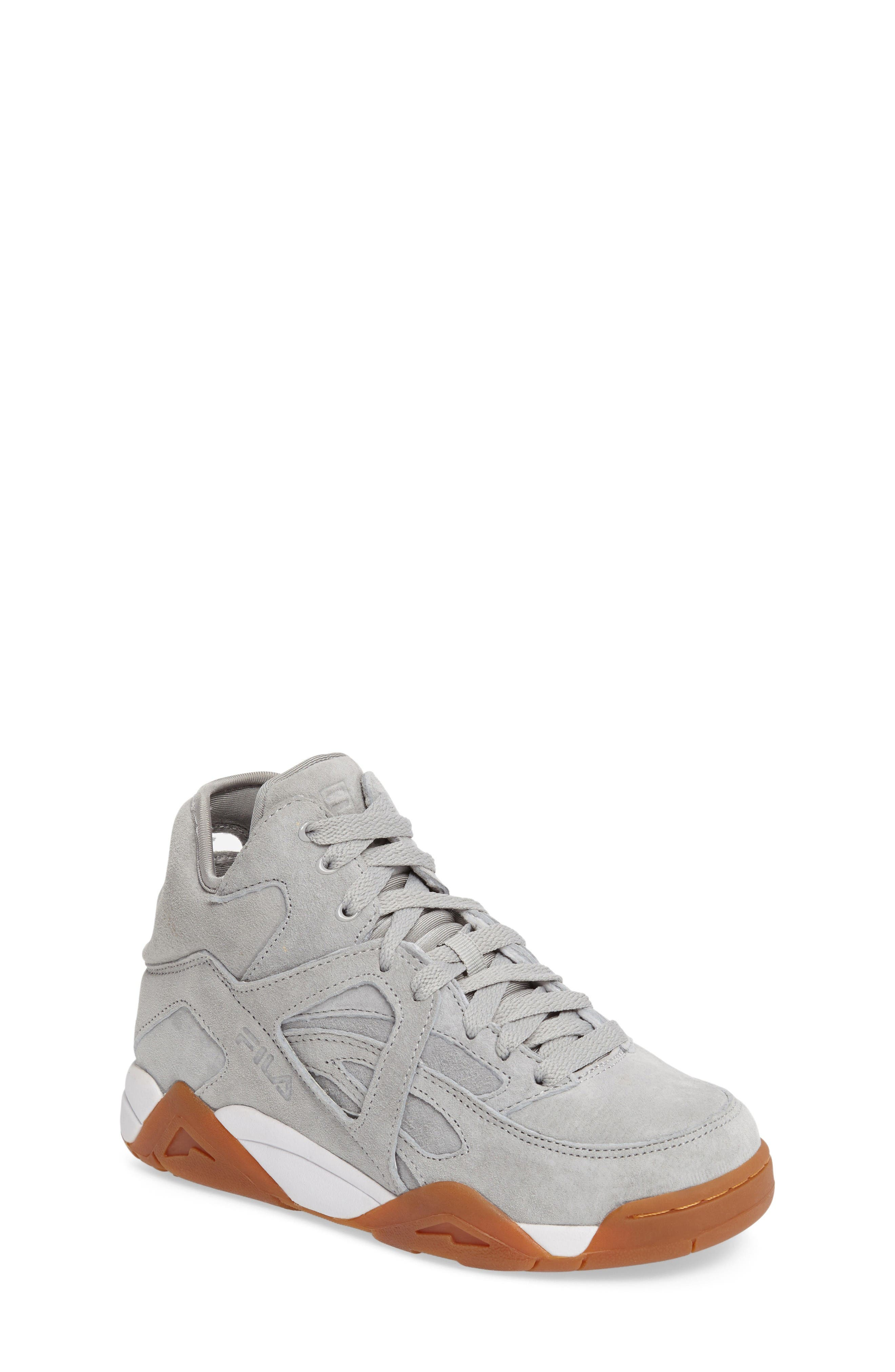 The Cage High Top Sneaker,                             Main thumbnail 1, color,                             High Rise Nubuck Leather