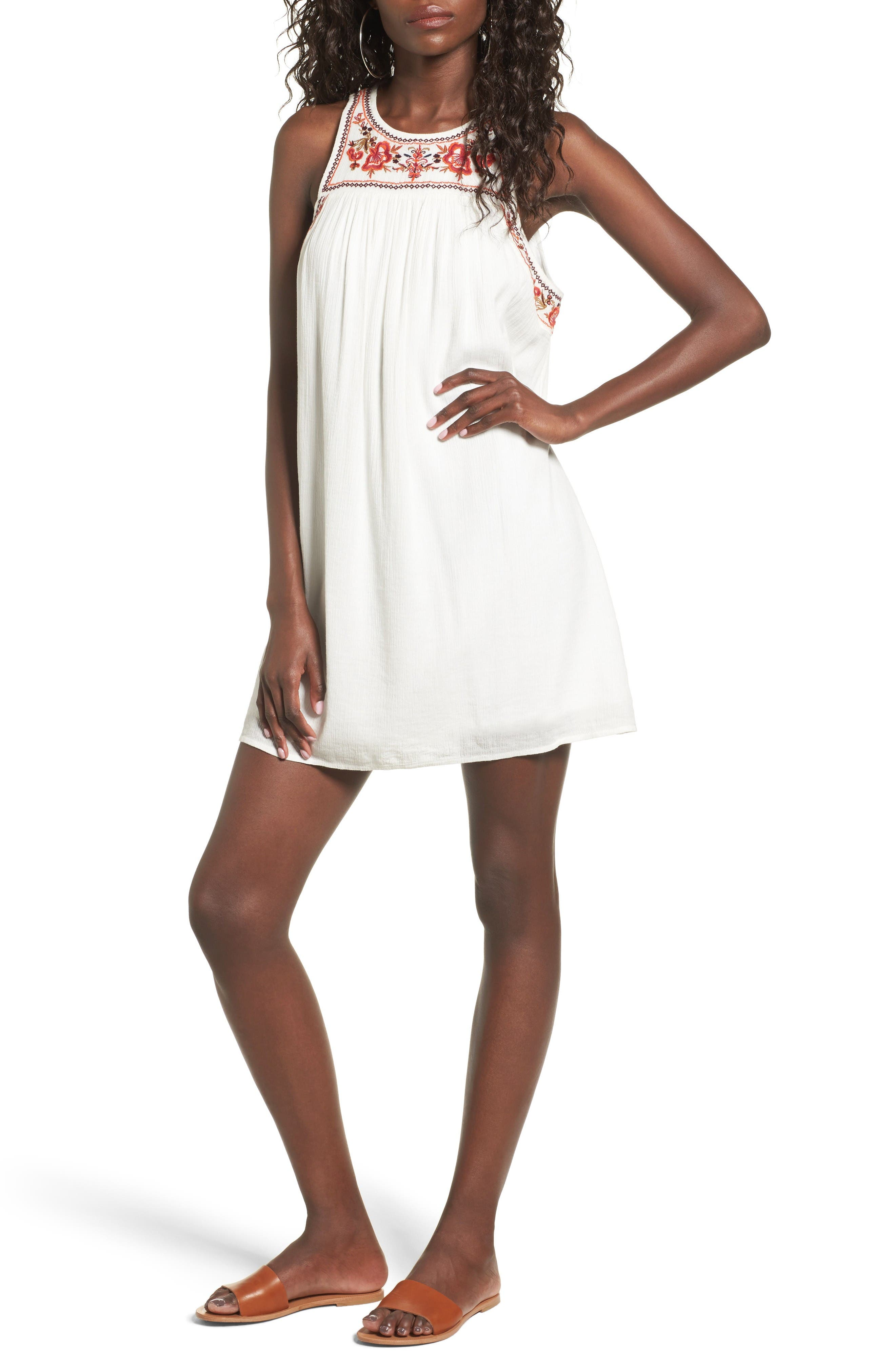 Alternate Image 1 Selected - Sun & Shadow Embroidered Shift Dress