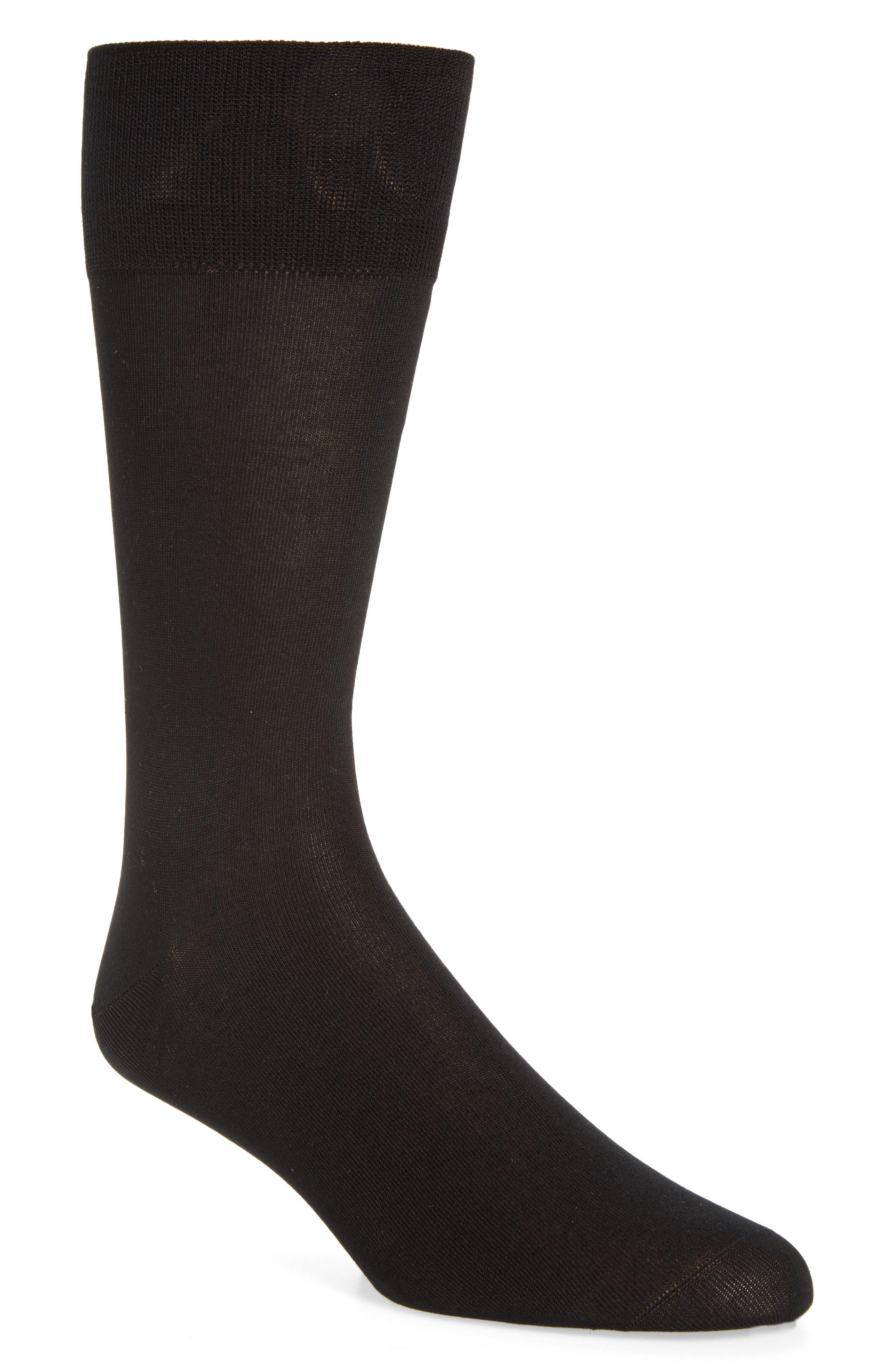 Socks,                             Main thumbnail 1, color,                             Black
