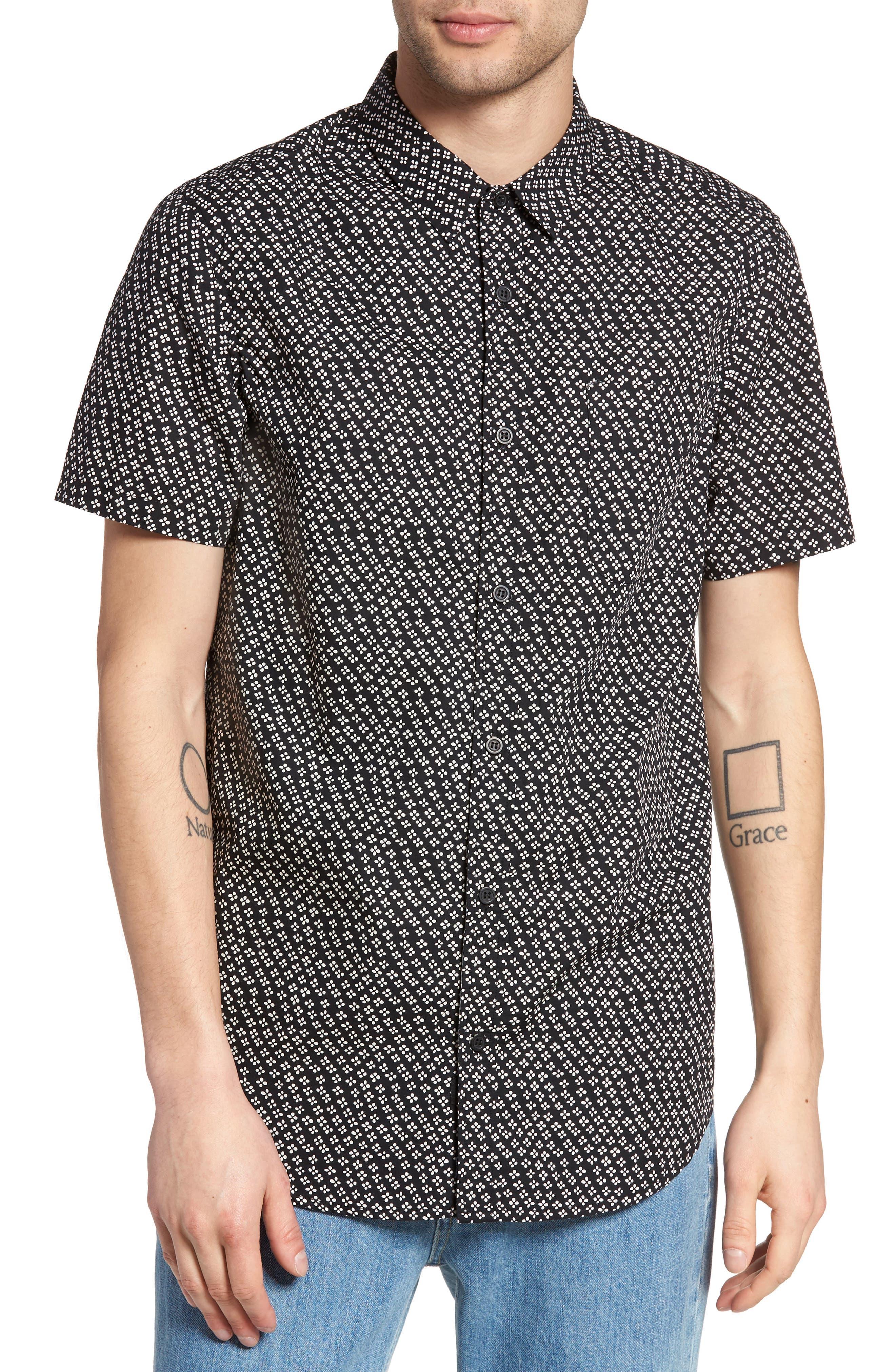 Globe Posie Floral Print Woven Shirt