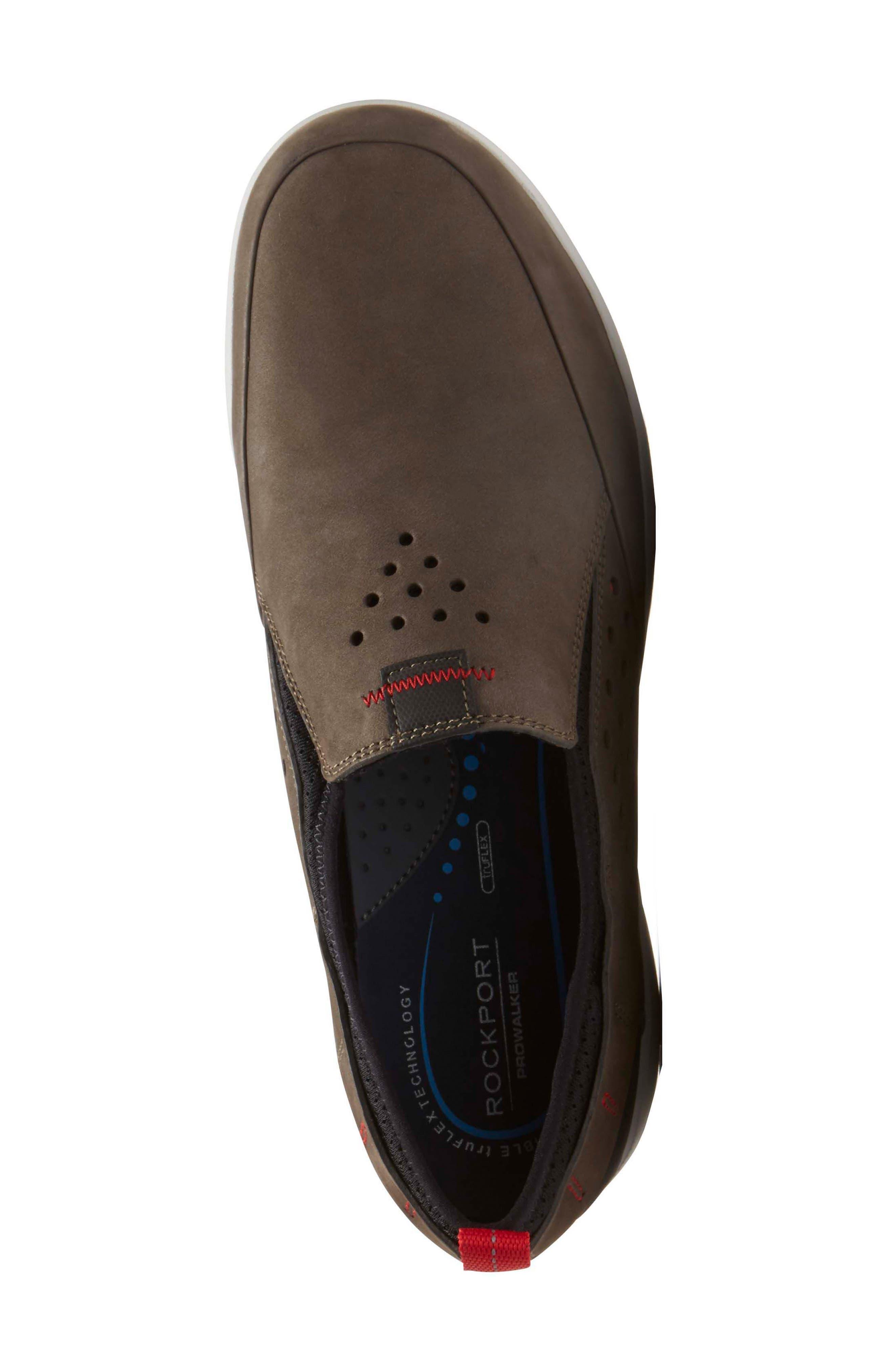 Truflex Slip-On,                             Alternate thumbnail 4, color,                             Dark Olive Leather