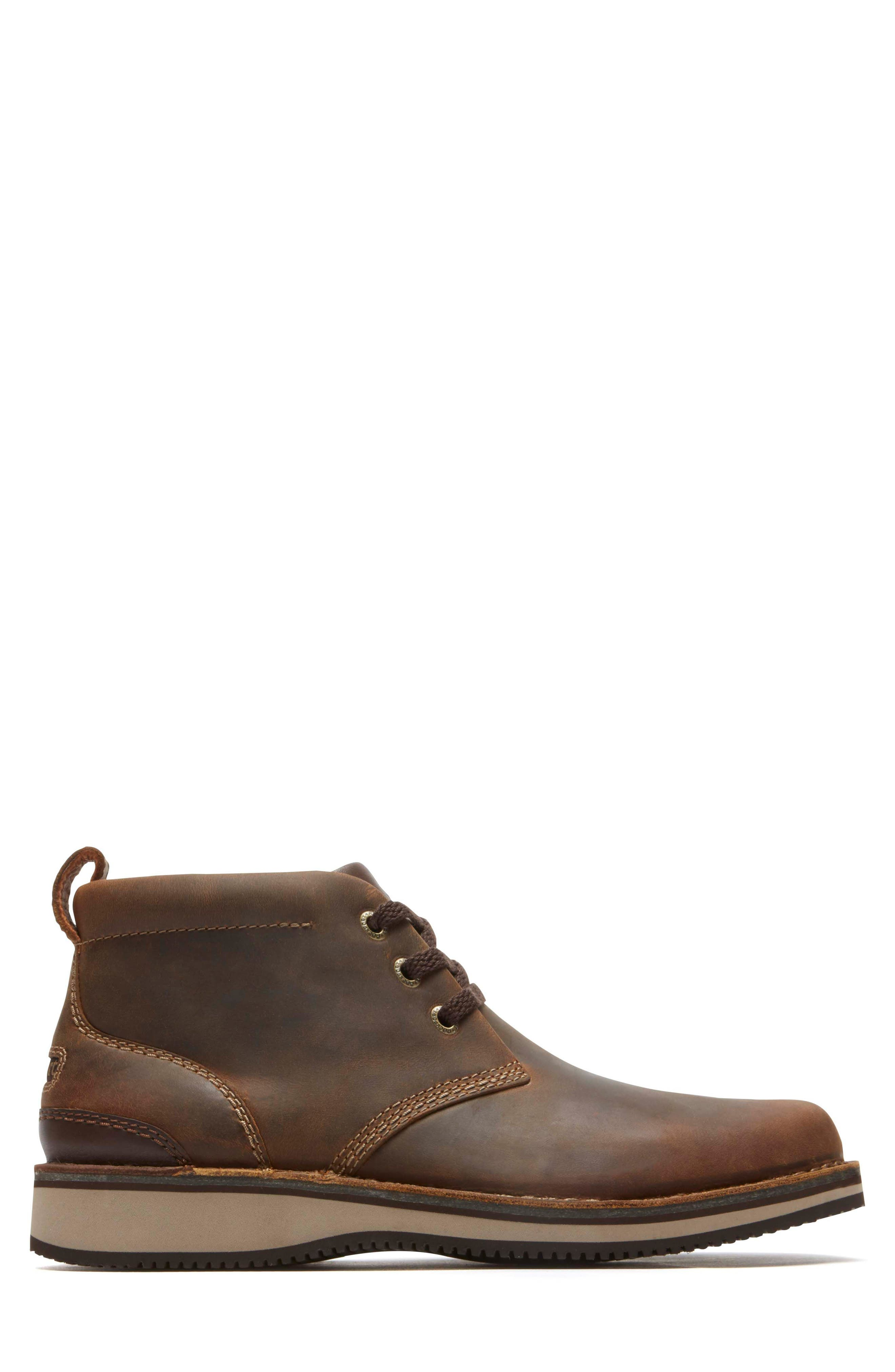 'Prestige Point' Chukka Boot,                             Alternate thumbnail 3, color,                             Beeswax Leather