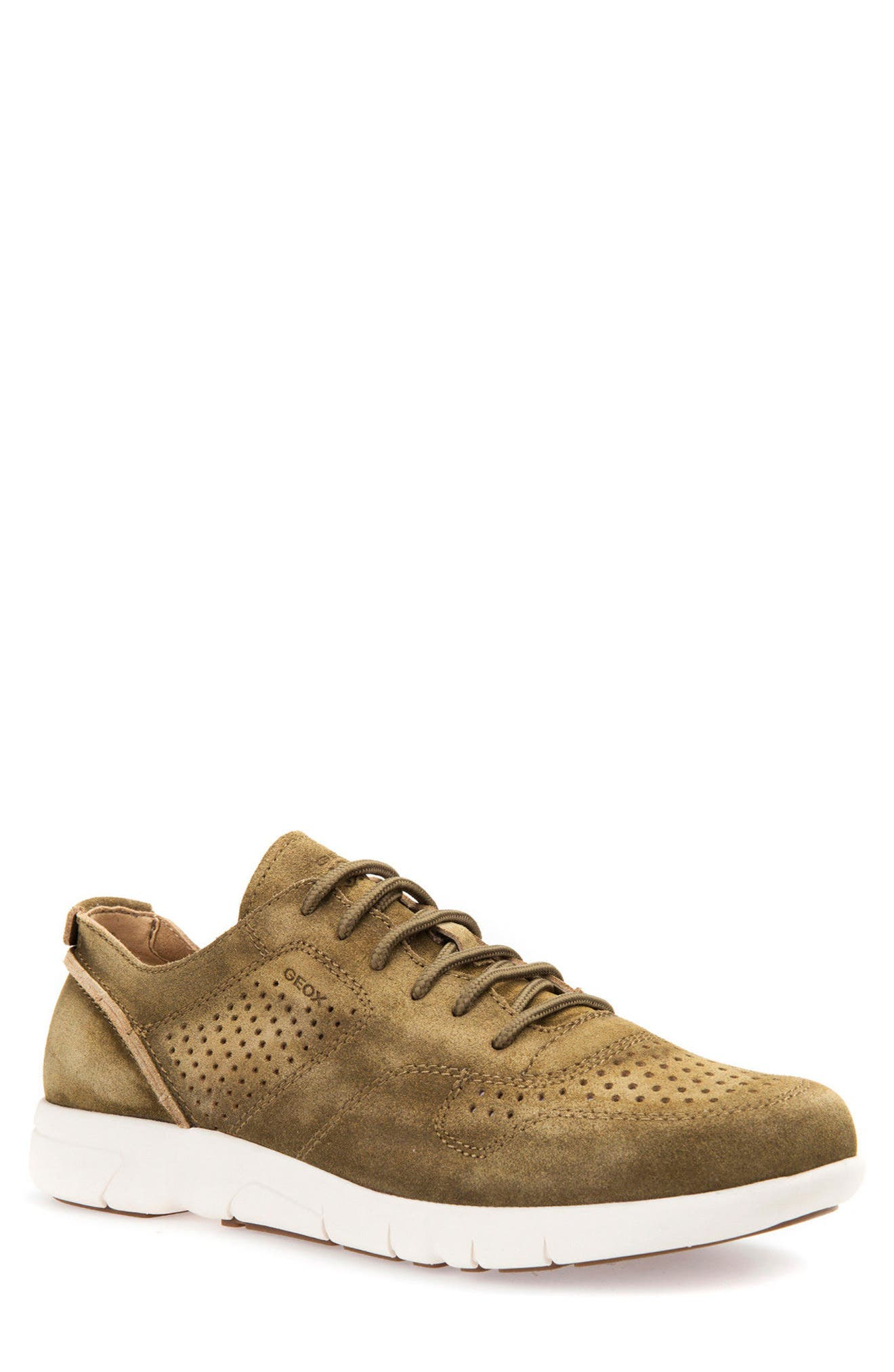 Alternate Image 1 Selected - Geox Brattley 2 Perforated Sneaker (Men)