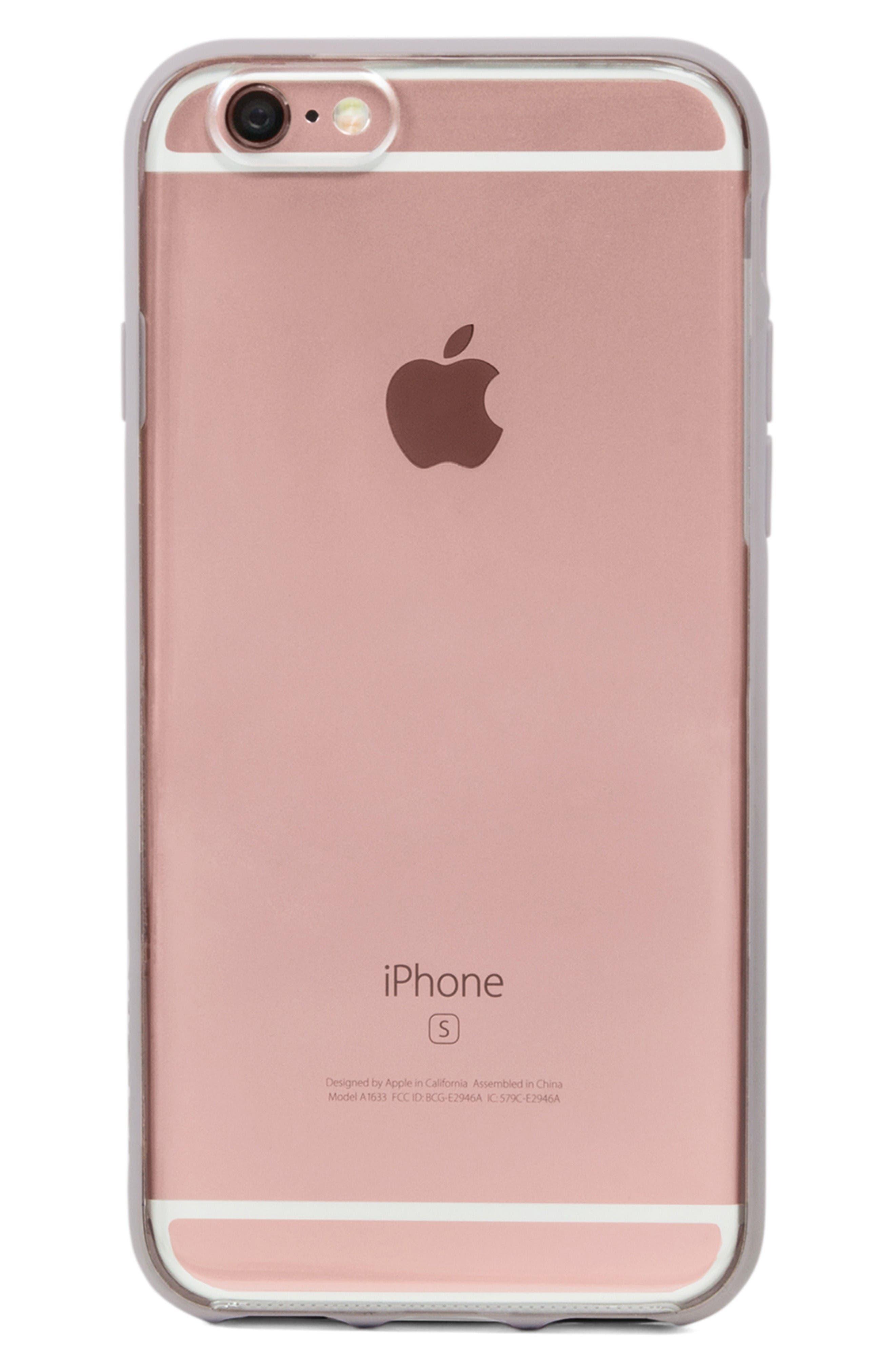 Pop Case iPhone 6 Plus/6s Plus Case,                             Main thumbnail 1, color,                             Clear/ Lavender