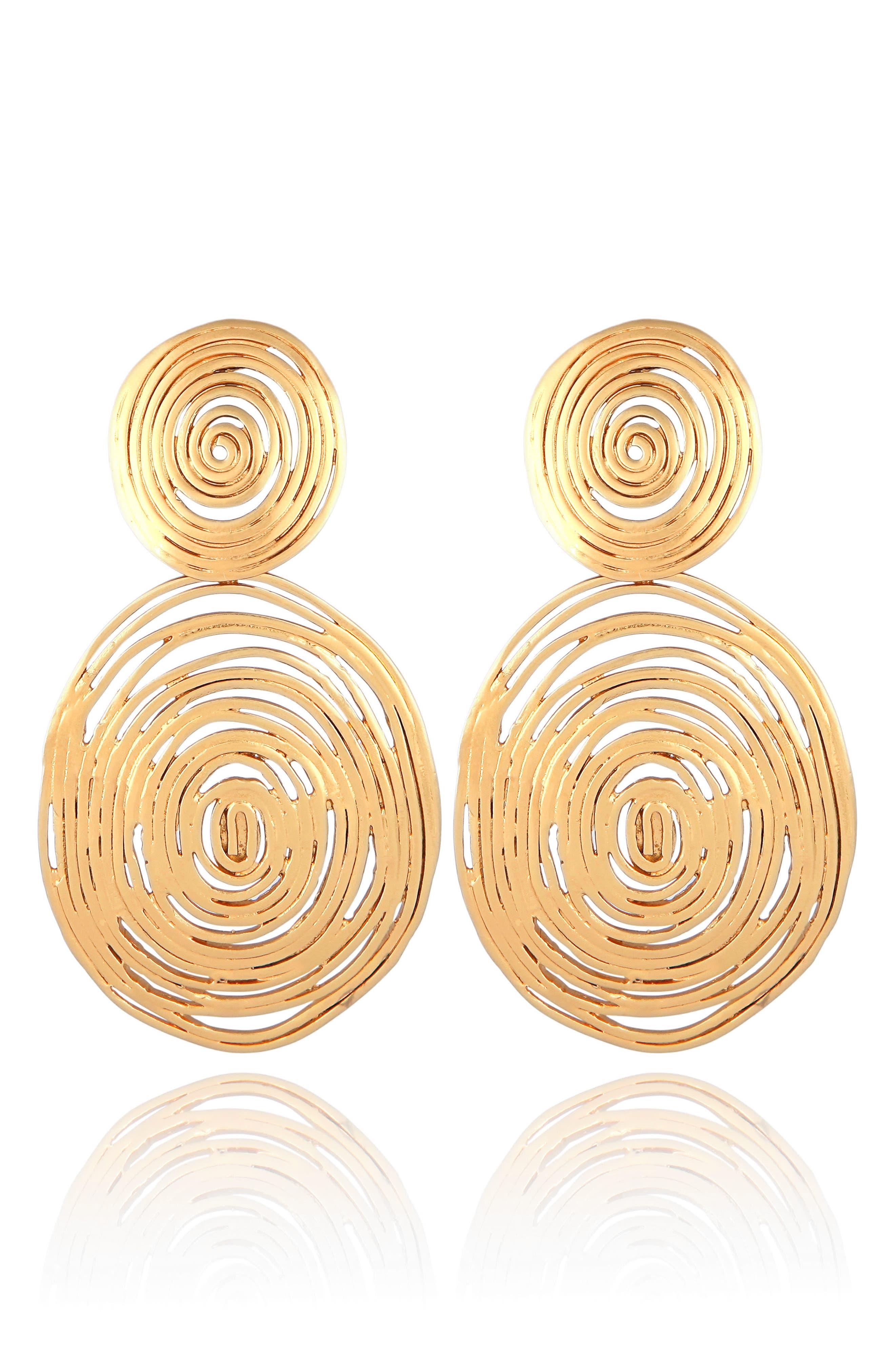 GAS BIJOUX Wave Double Drop Earrings