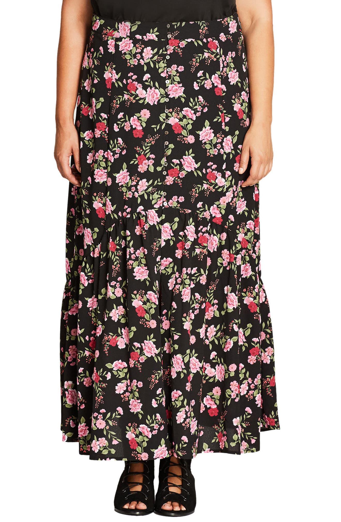 Free Spirit Maxi Skirt,                         Main,                         color, Fuchsia