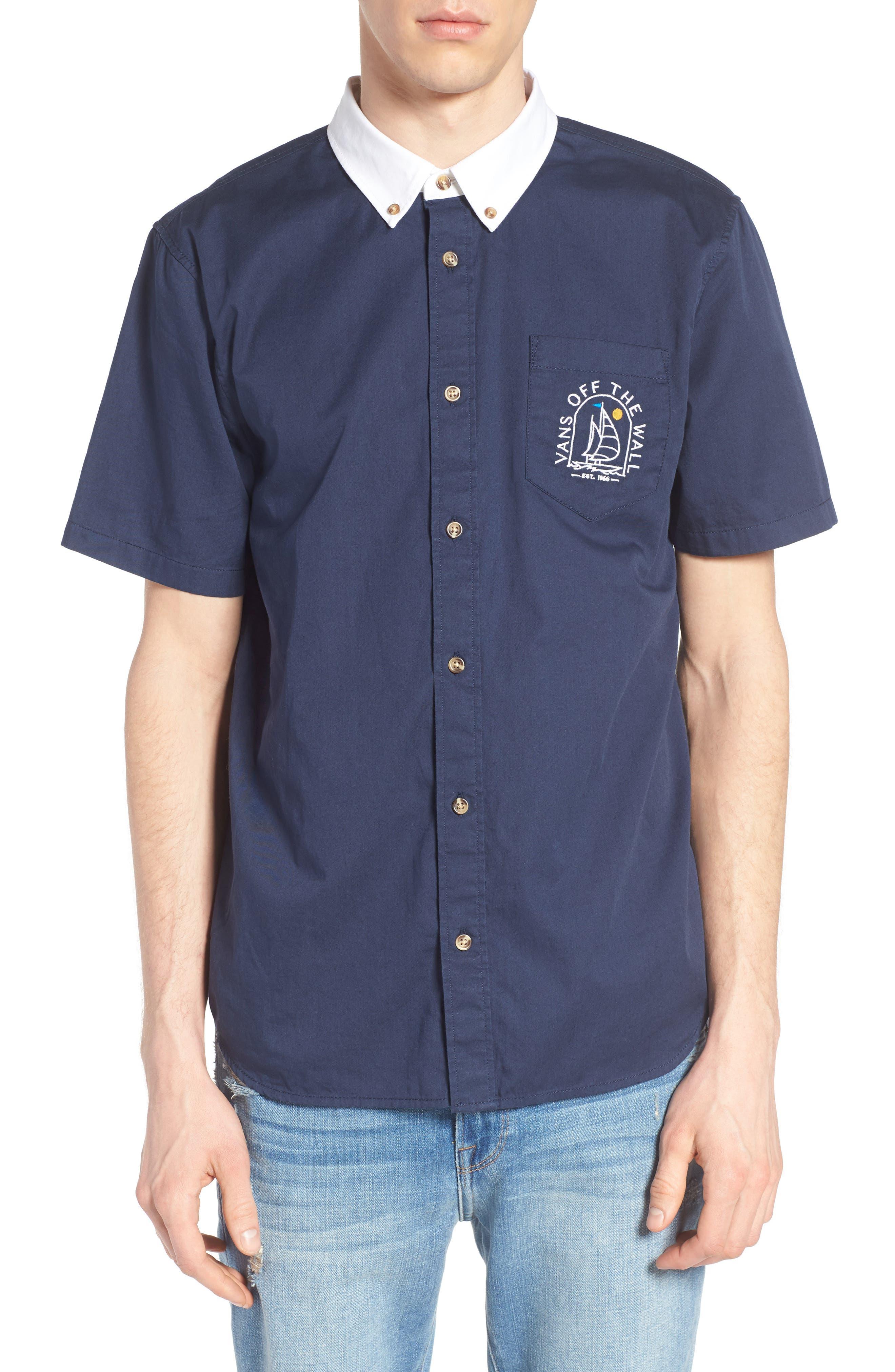 Vans Sea Cruiser Contrast Collar Woven Shirt