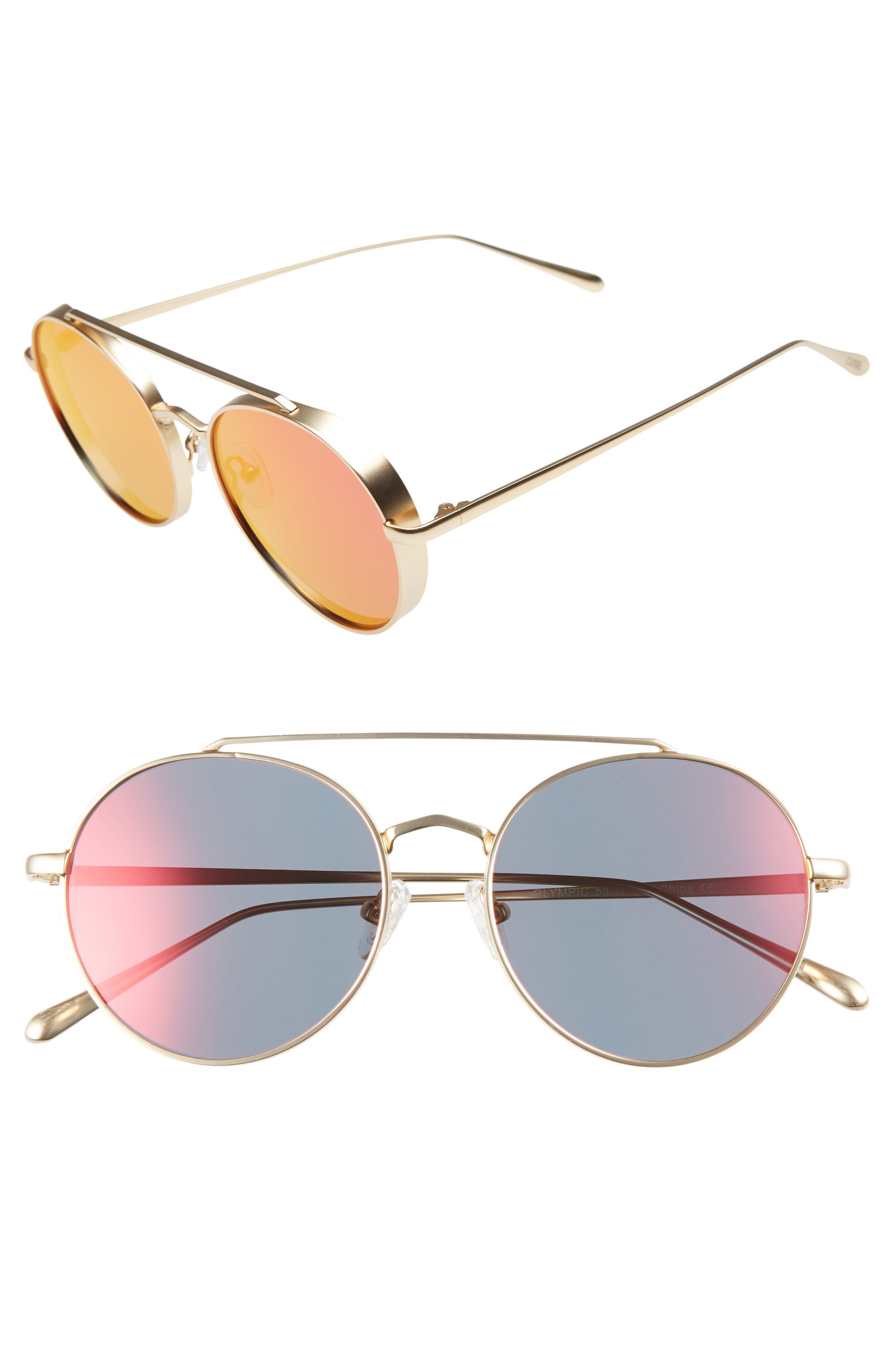 BONNIE CLYDE Olympic 53mm Polarized Aviator Sunglasses