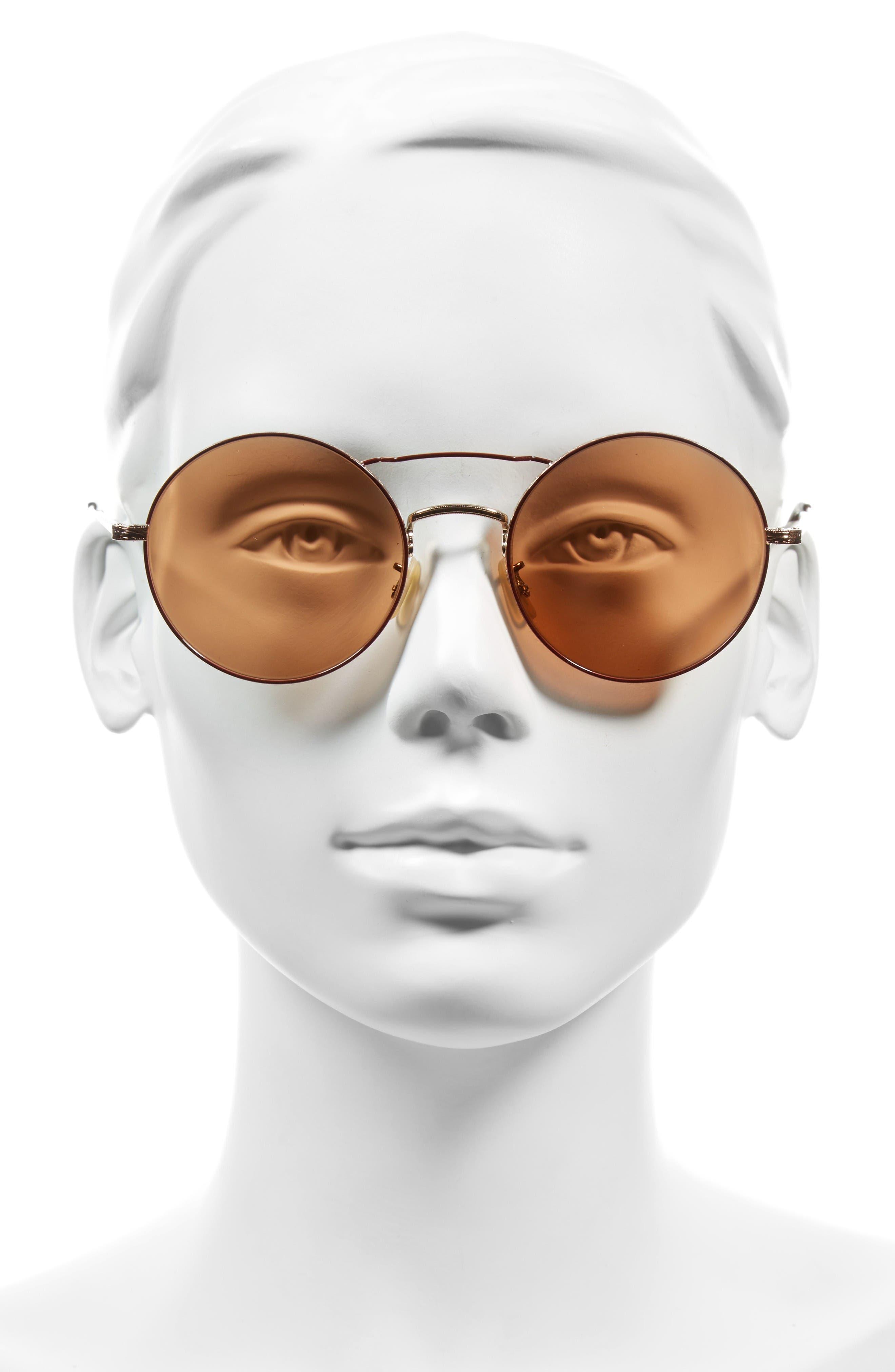 Alternate Image 2  - Oliver Peoples Nickol 53mm Round Sunglasses