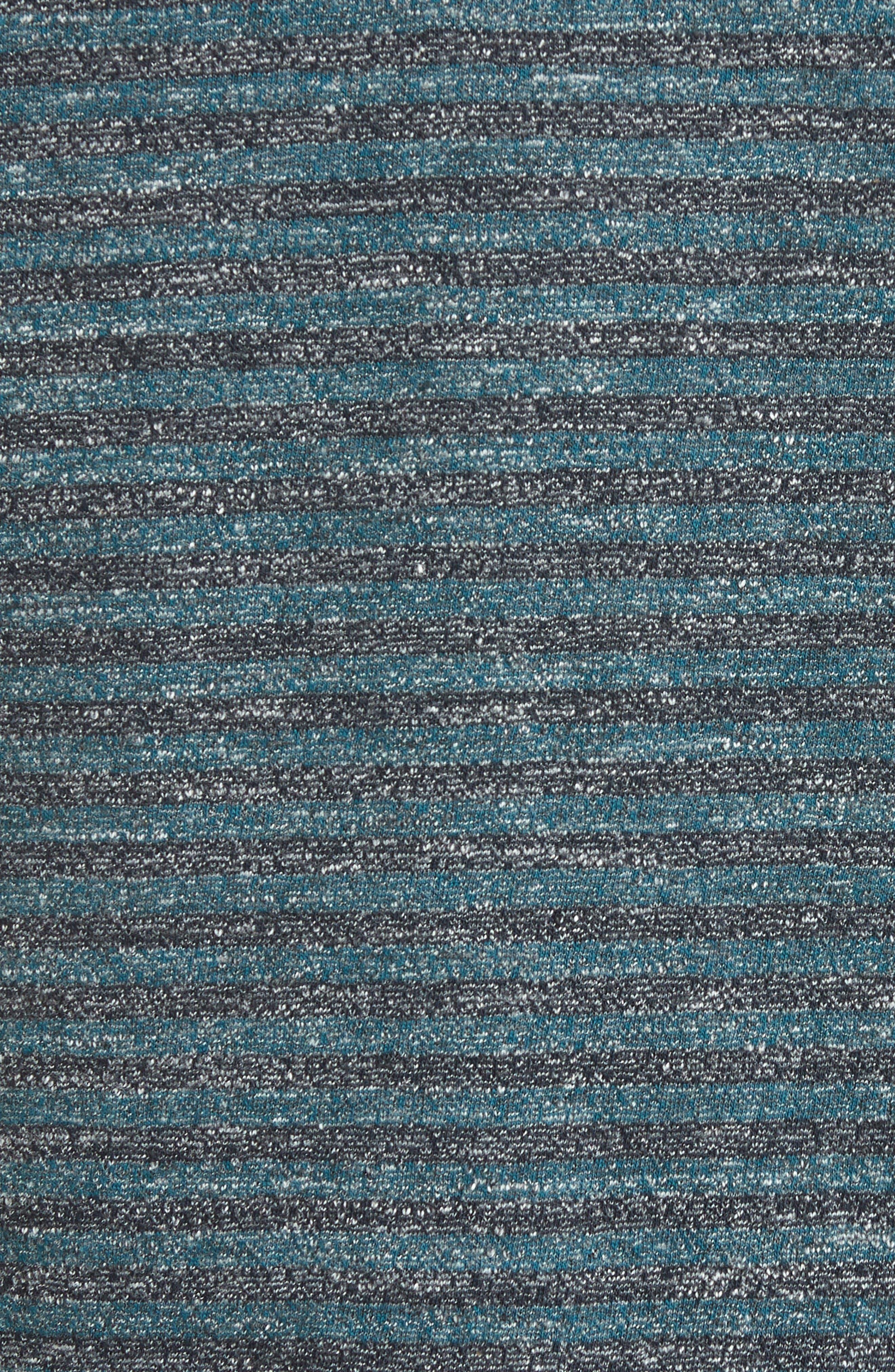 Slim Mélange Stripe Polo,                             Alternate thumbnail 5, color,                             Blue