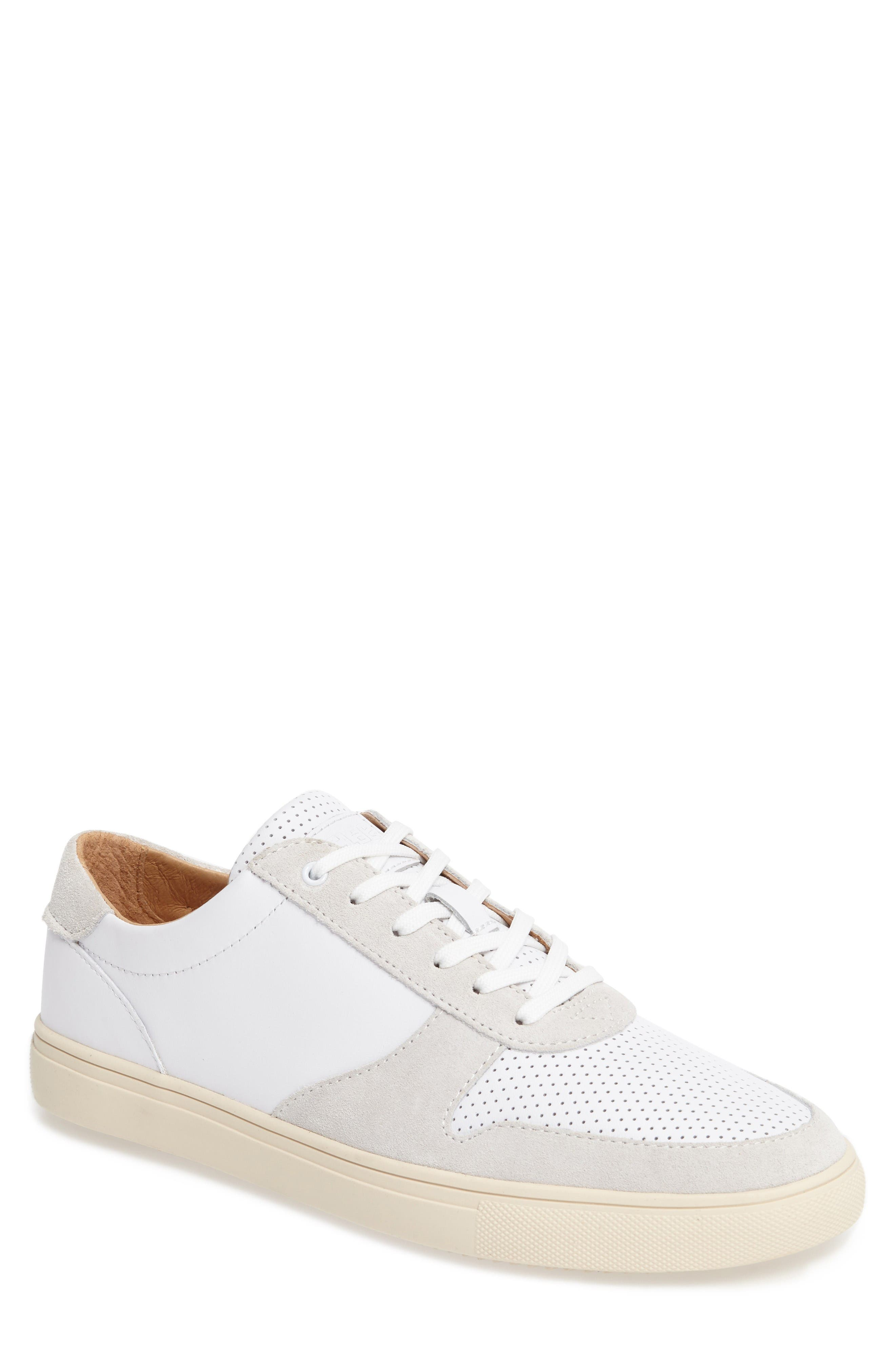 'Gregory' Sneaker,                             Main thumbnail 1, color,                             White Leather