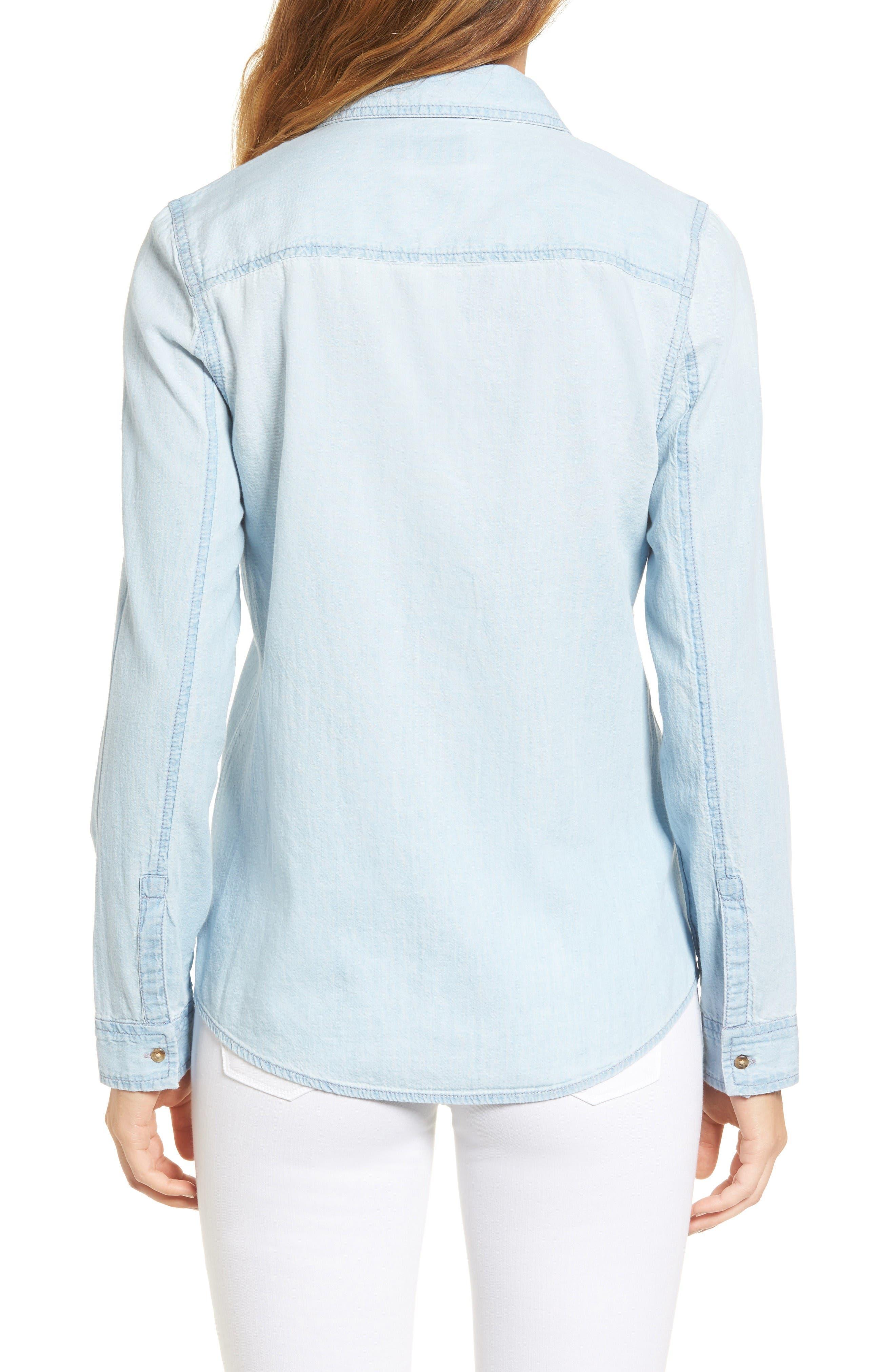 Chambray Shirt,                             Alternate thumbnail 2, color,                             Light Medium Wash