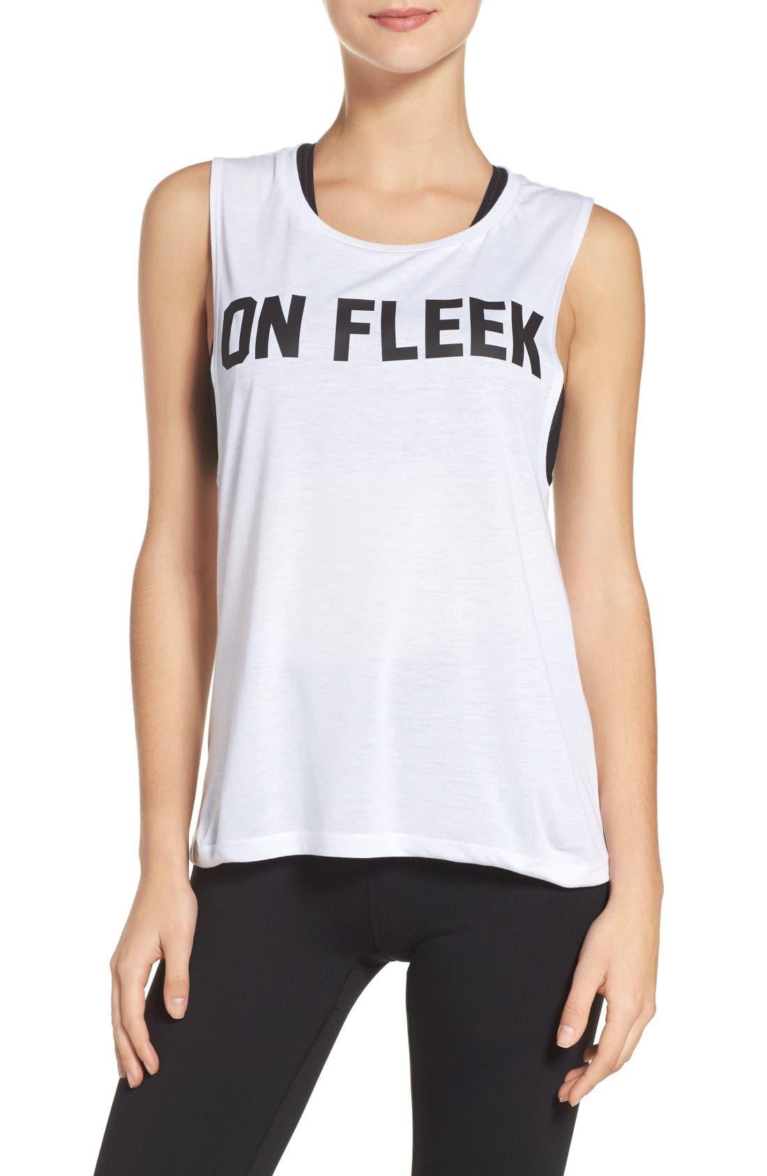 On Fleek Tank,                         Main,                         color, White